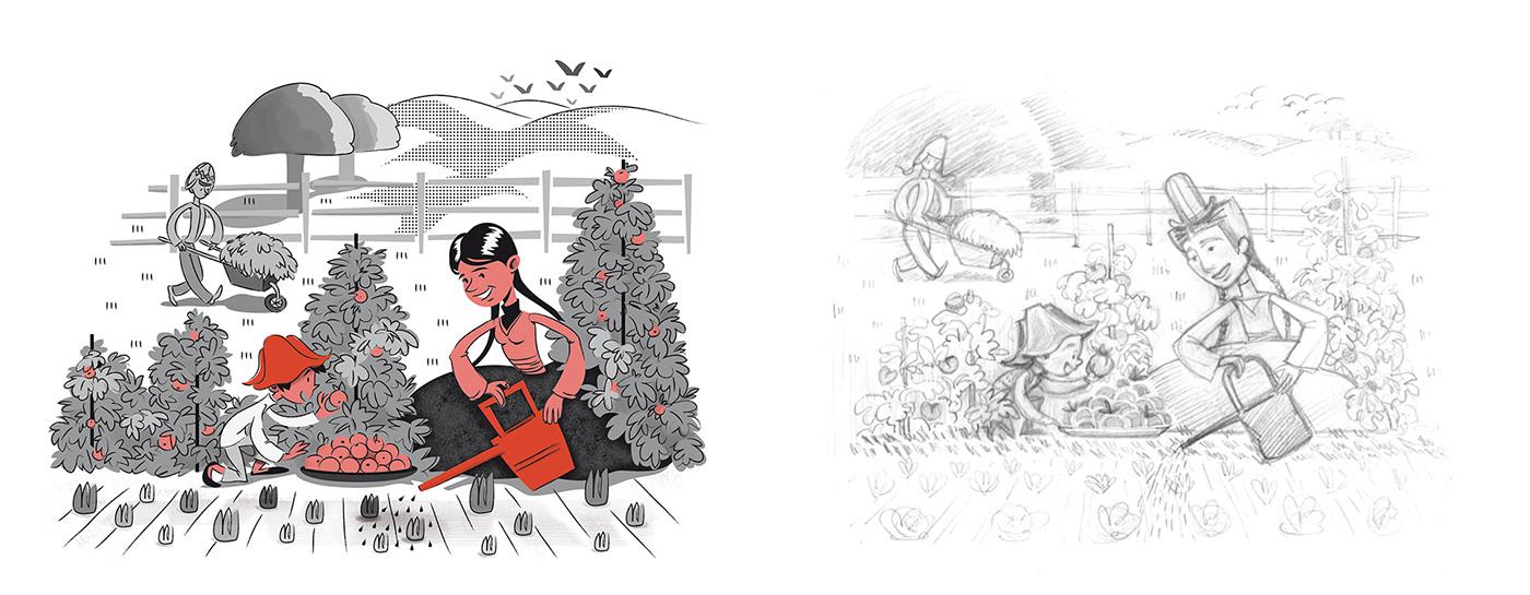 diseño Exposición ong cruz roja Viral Web interactivo online ilustracion