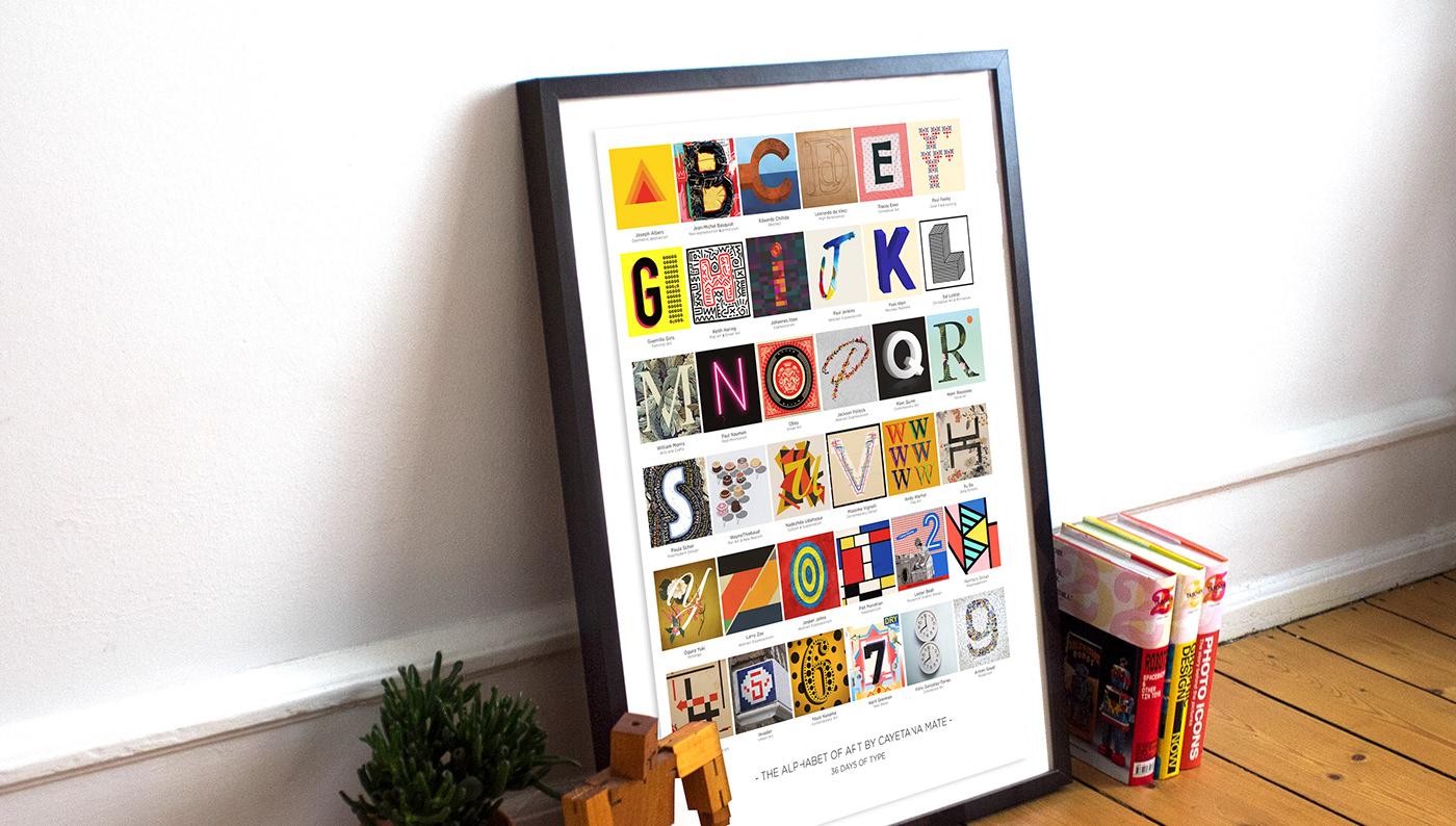 36daysoftype cayetana mate typography   art Alphabet art custom type art history
