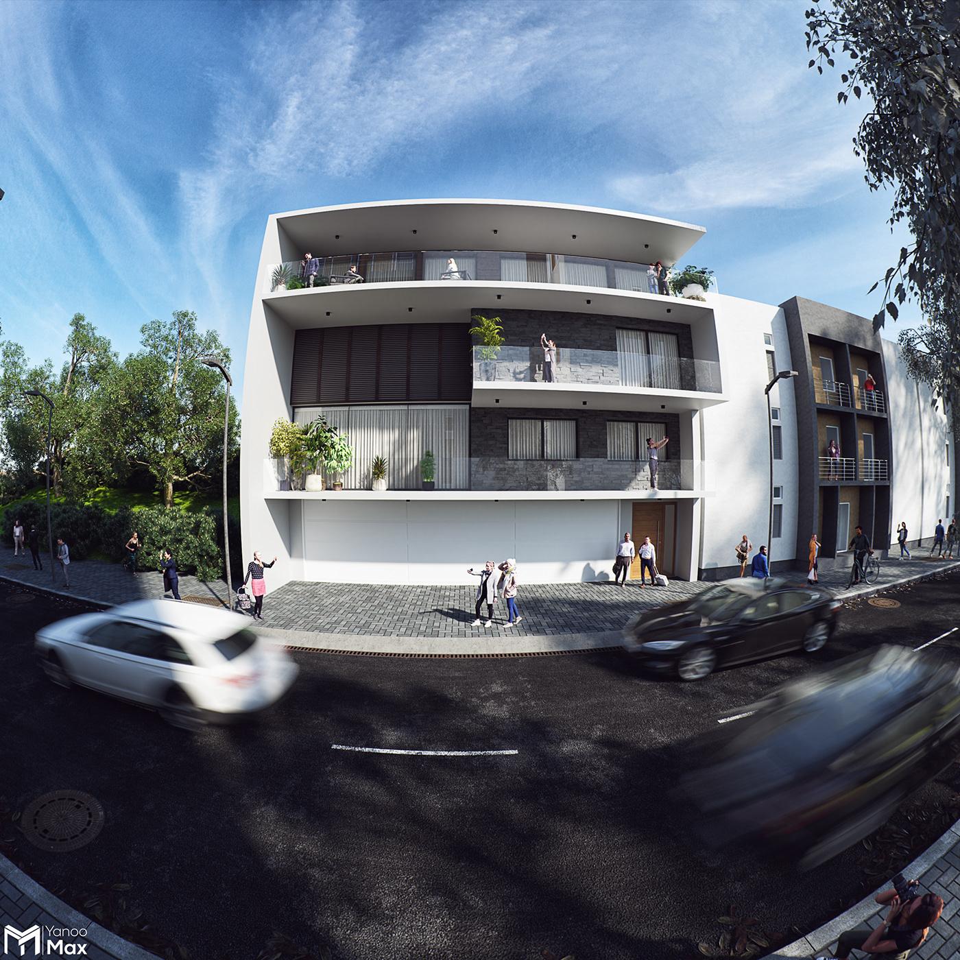 3D 3ds max architecture corona renderer exterior interior design  modeling Render visualization vray