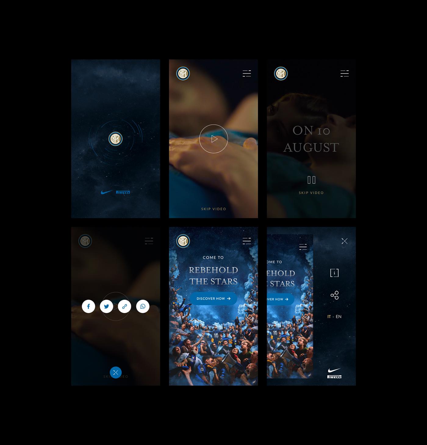 inter soccer milan night stars bed design Website UI ux