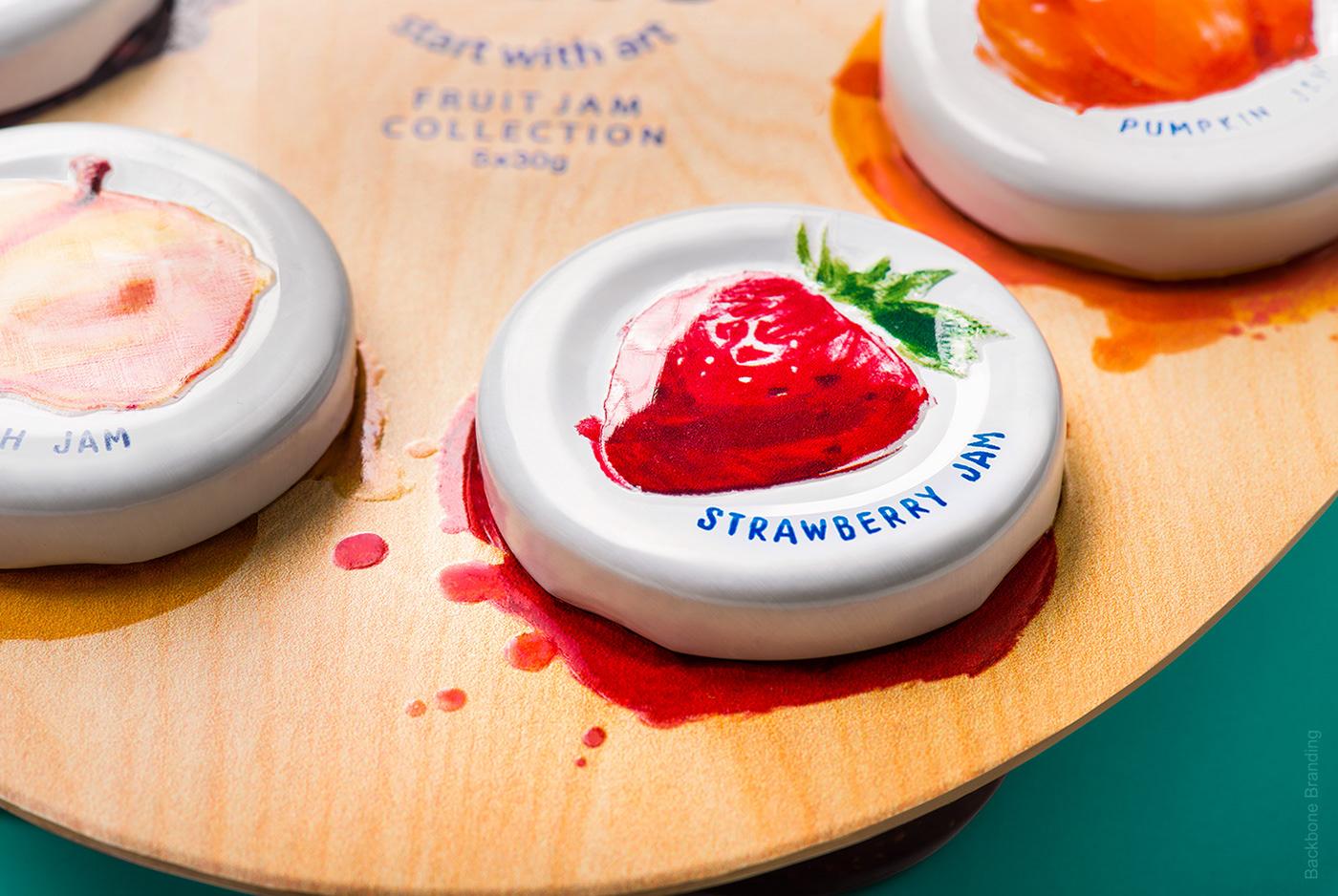 jam palette art painter branding  Packaging paint Unique concept breakfast