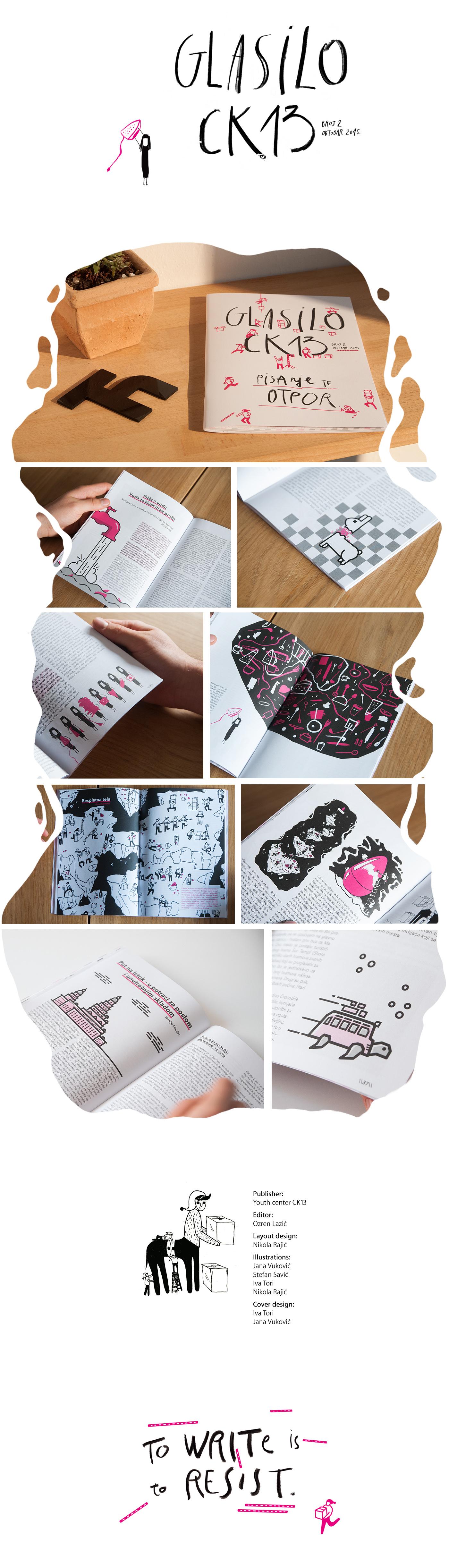 magazine publication Layout Design print