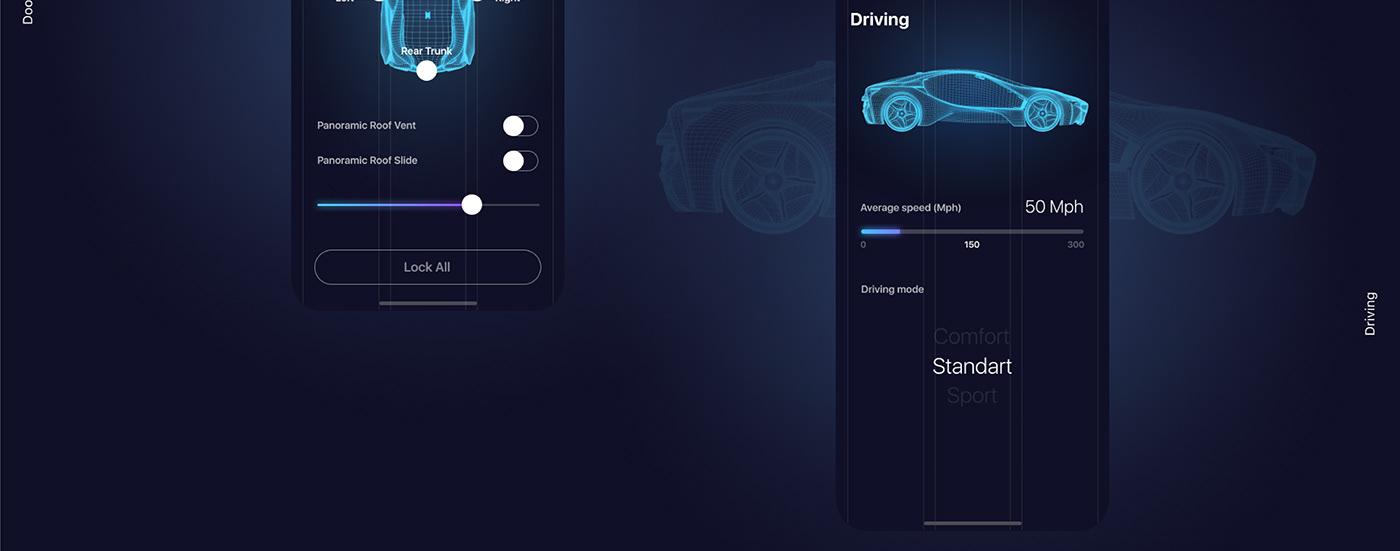 apple car app mobile UI ux Icar
