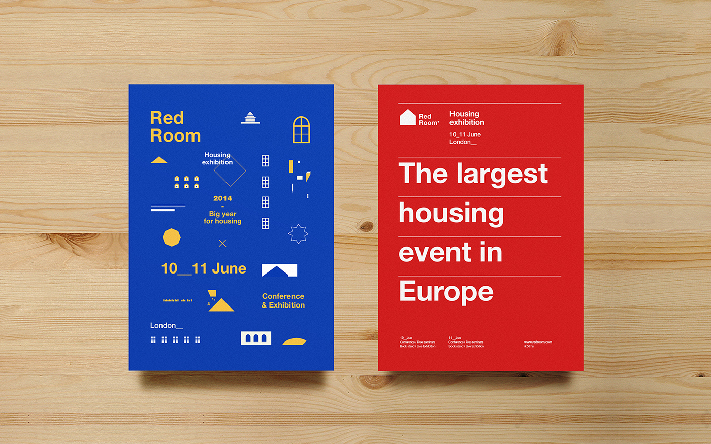 Exhibition  housing colors identity London Event poster branding