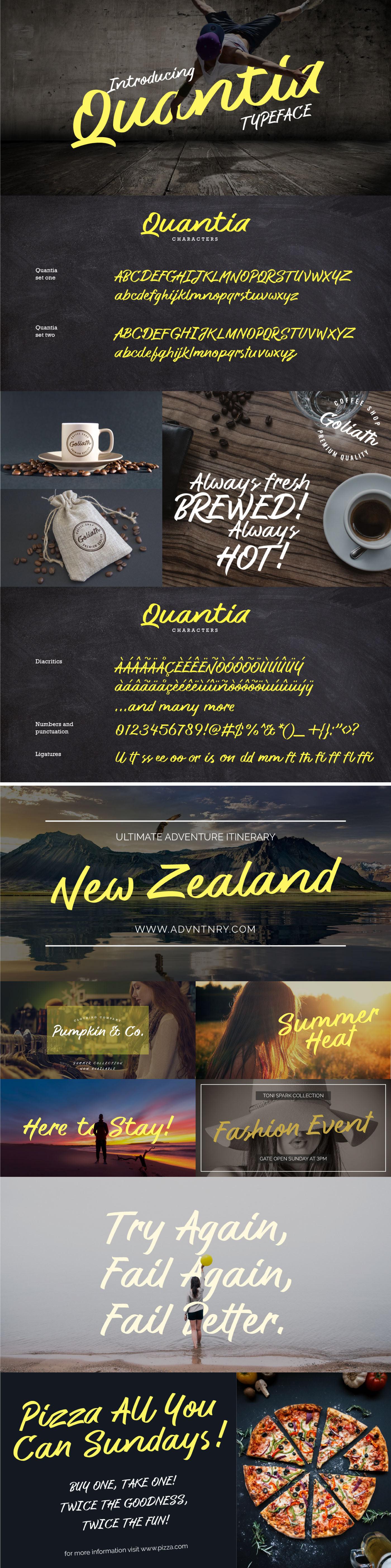Шрифт – Quantia