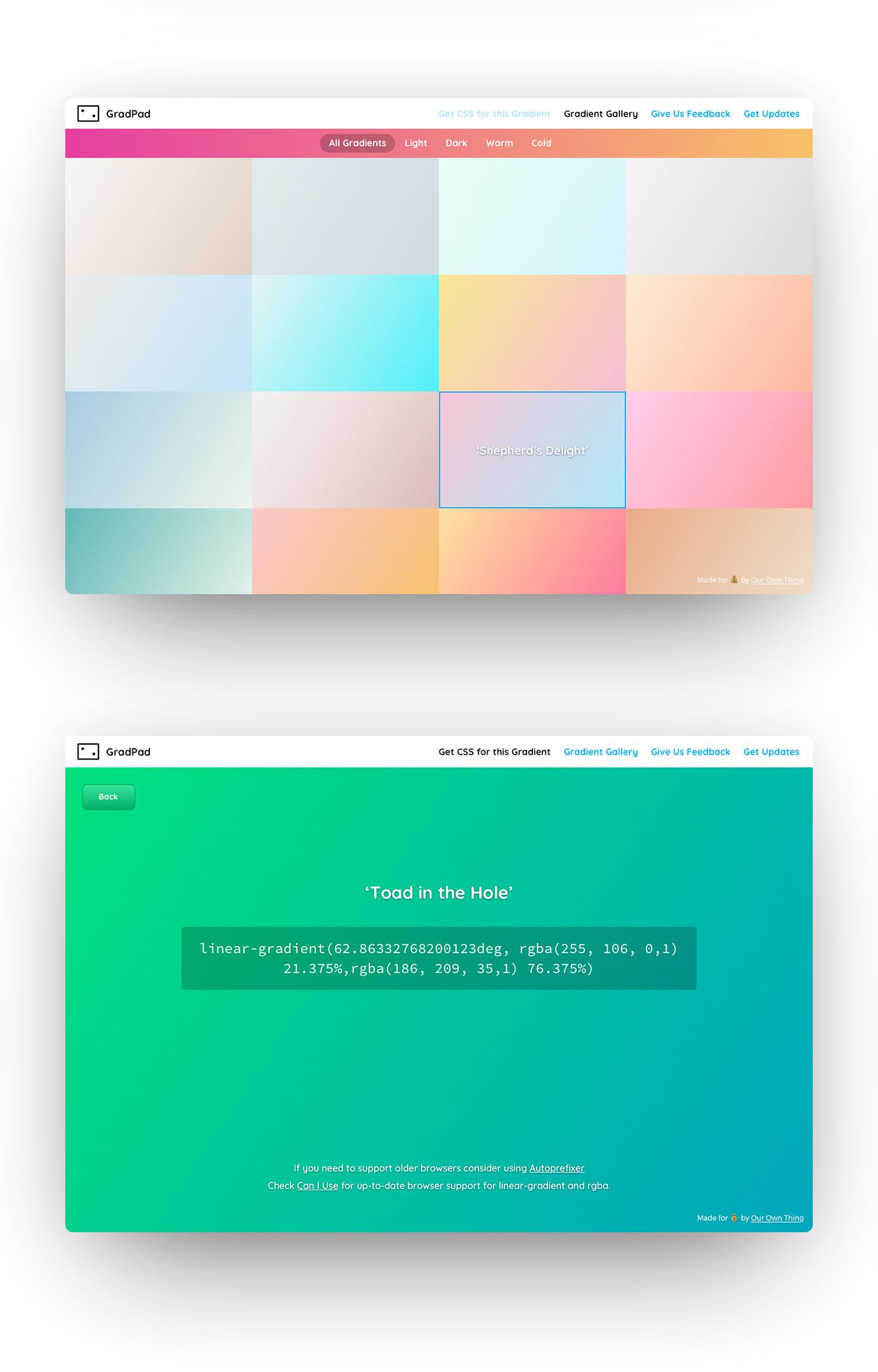 gradient gradient creator product design  colour gradient css