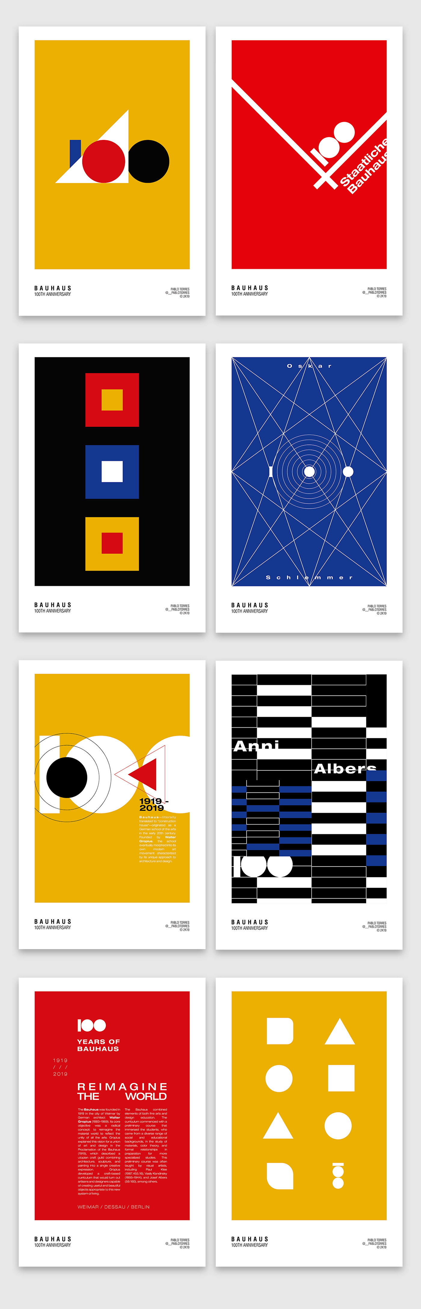 bauhaus diseño gráfico graphic design  shapes animation  motion graphics  wasilly kandinsky walter gropius shape adobeawards