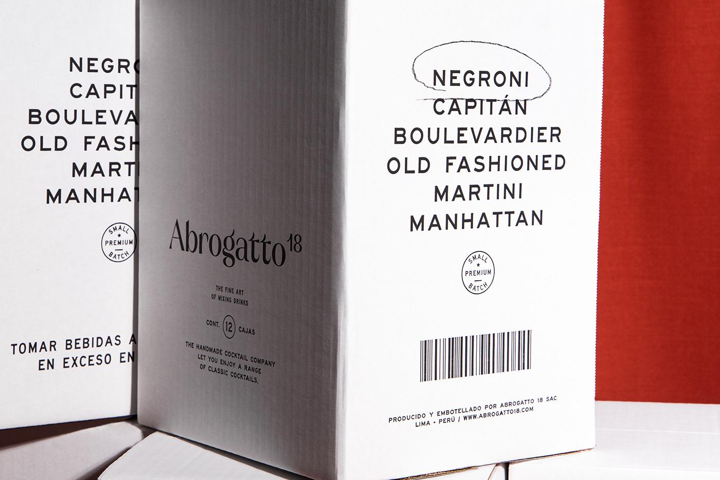 alcoholic box branding  ecofriendly empaque foil Kraft minimalist Negroni Packaging