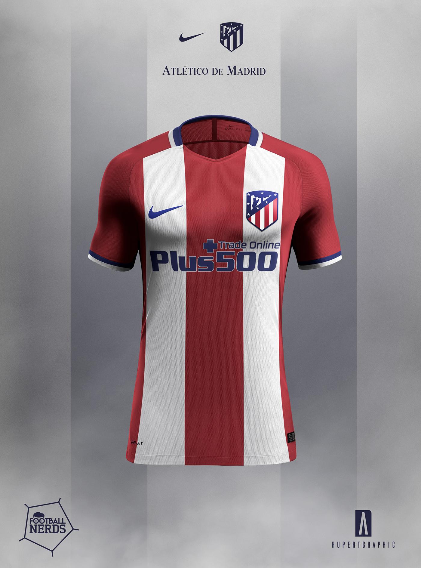 8d0076feb Atletico de Madrid 2017/18 Concept - Nike on Behance
