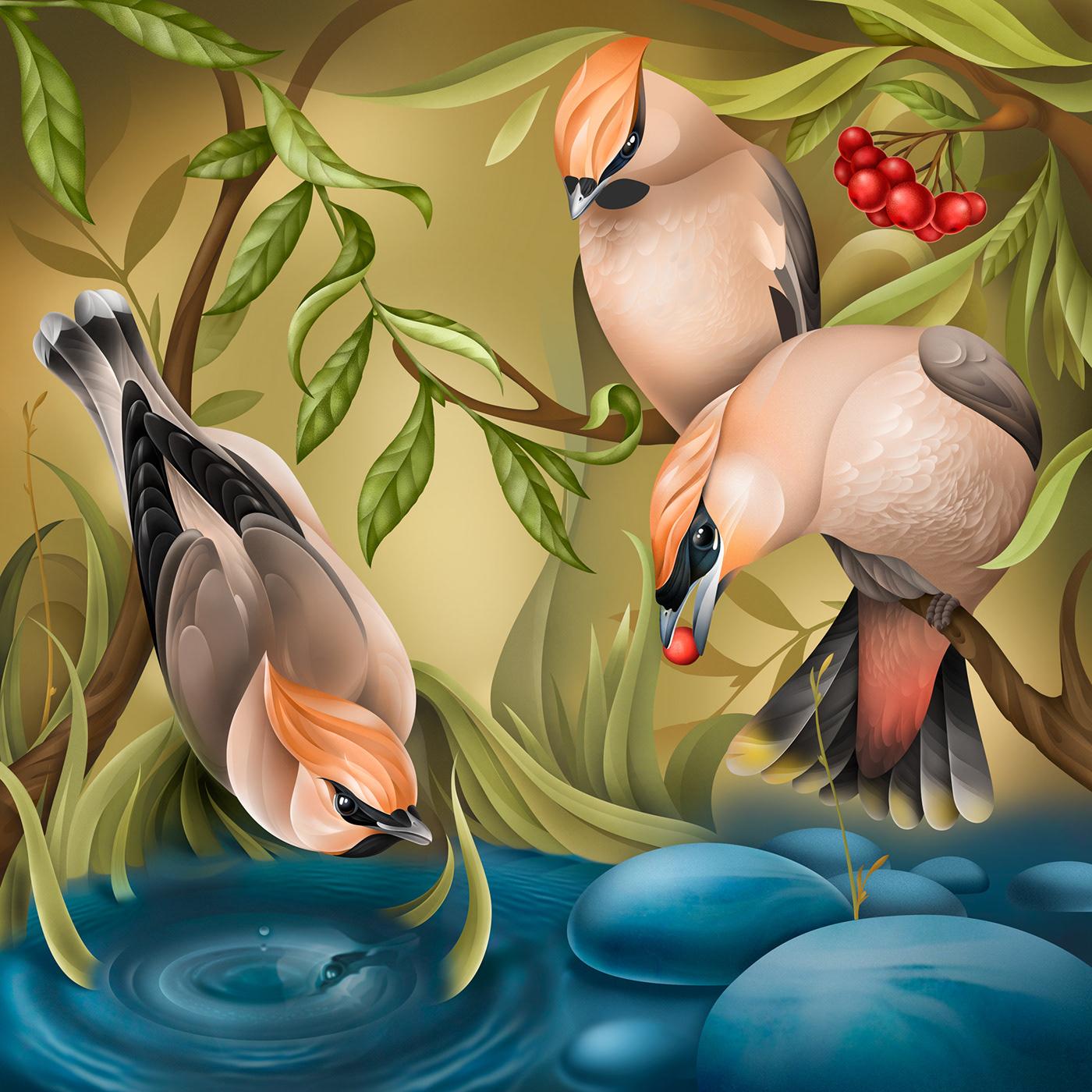 artwork Character ILLUSTRATION  Interior Nature Procreate