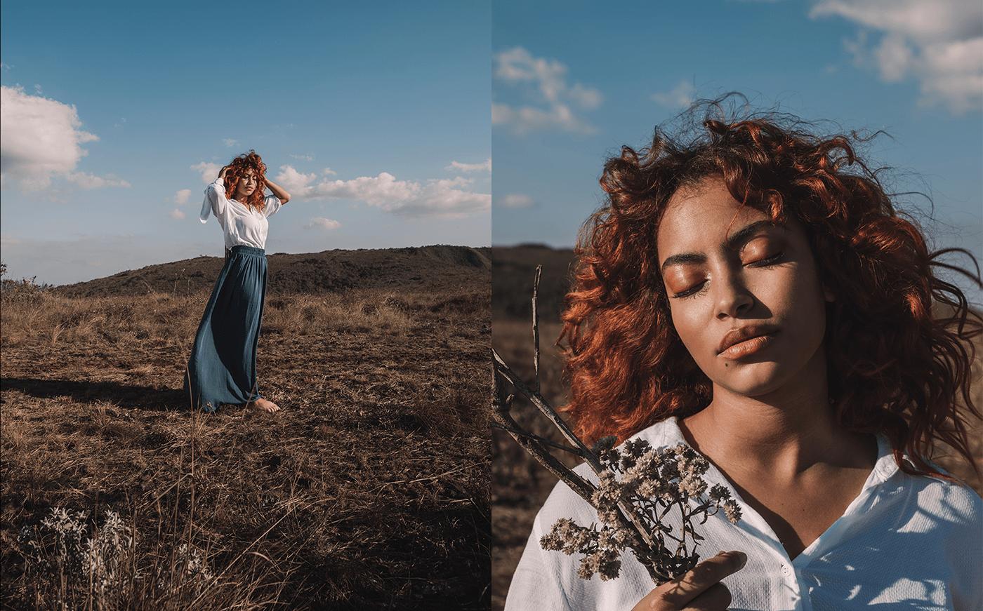 Fashion ,identity,blue,gold,beauty,portrait,moda,mountain,concept,experiment
