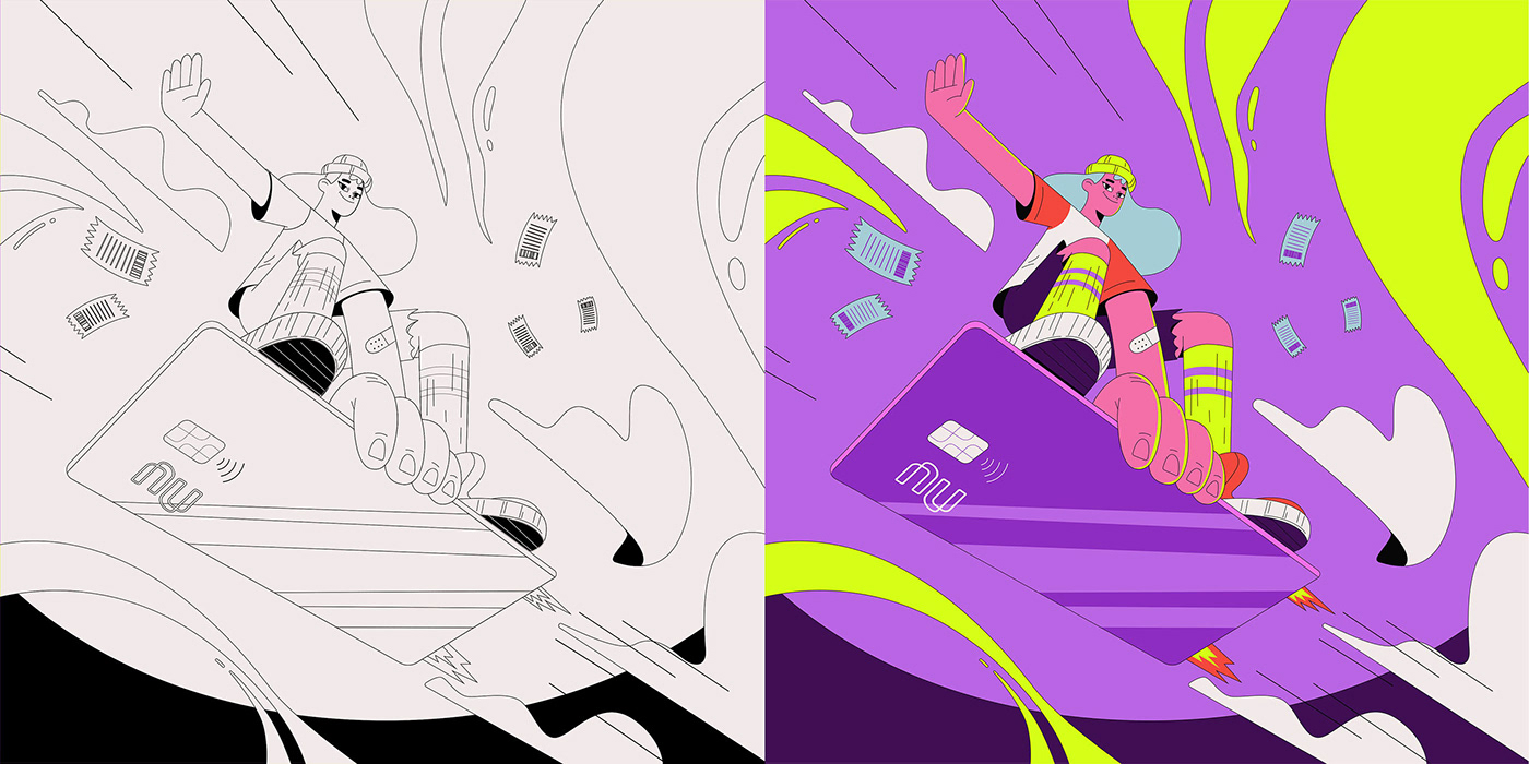animation  Character design  Nubank
