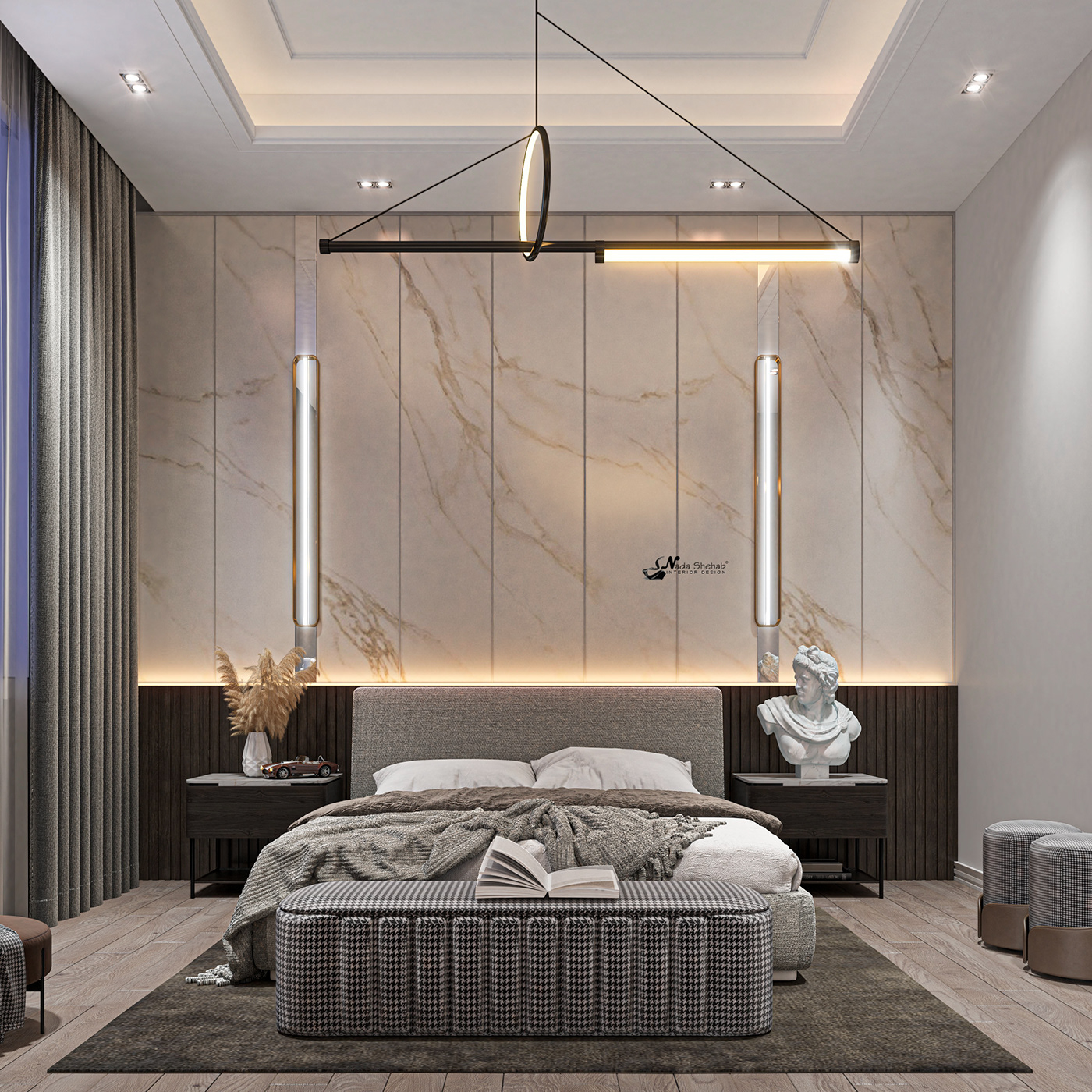 Hình ảnh có thể chứa: đồ nội thất, tường và rèm