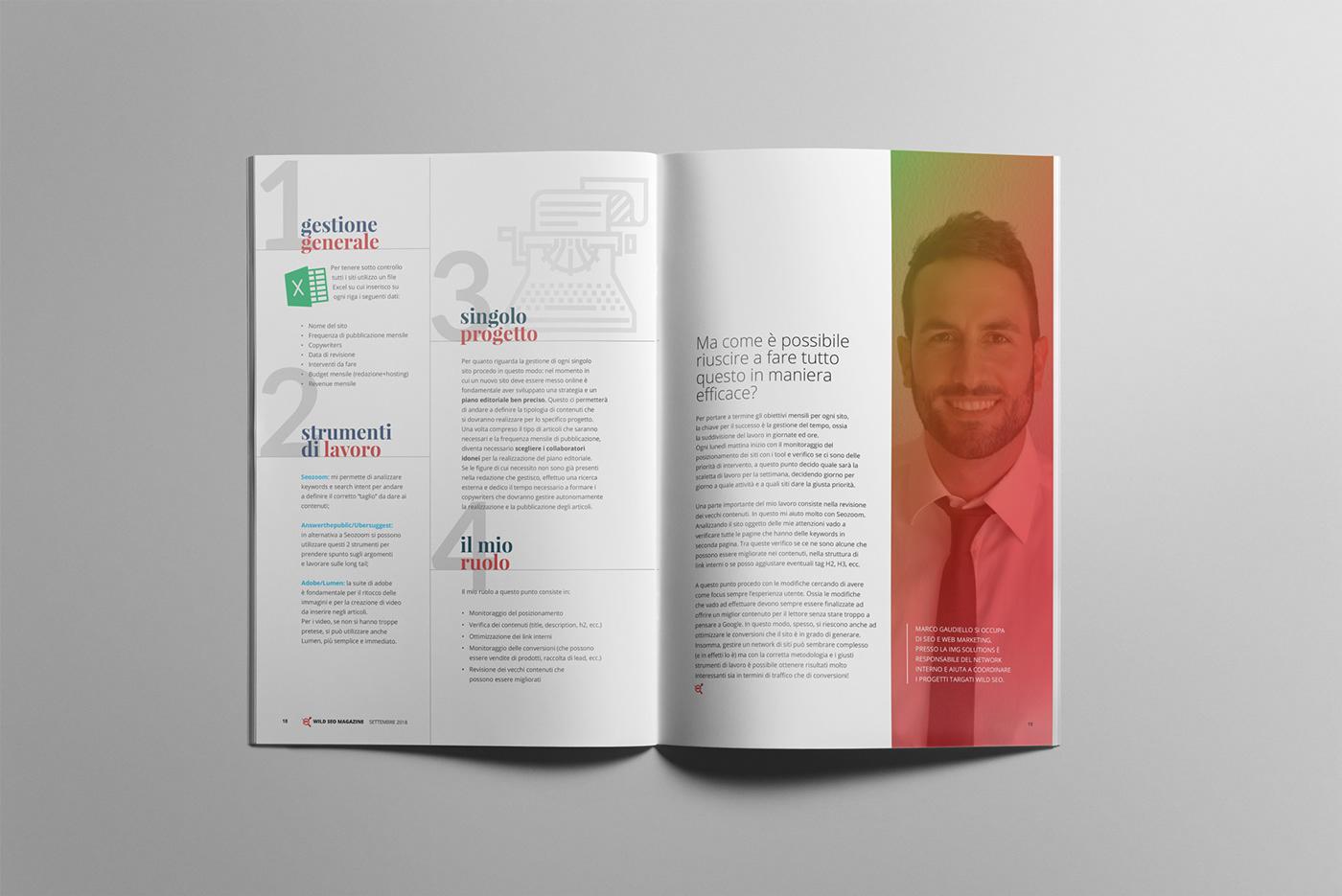 design Magazine design Seo Magazine Italian Magazine design magazine