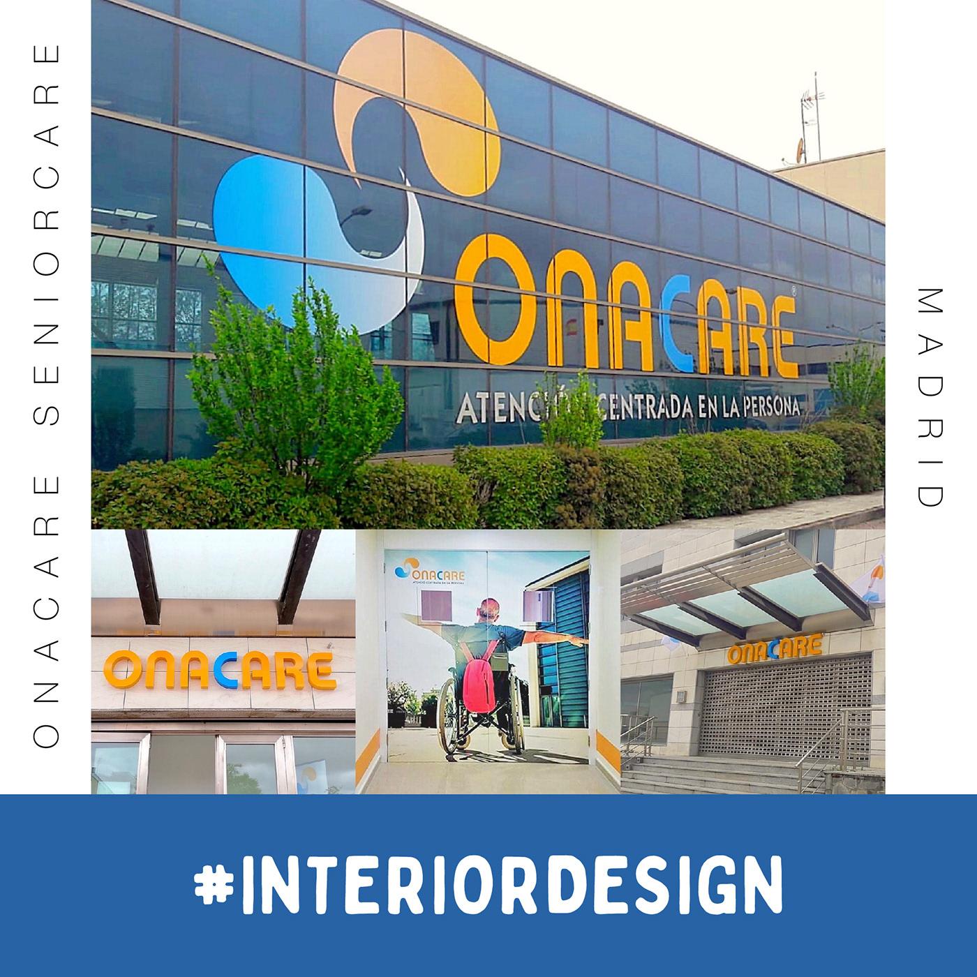 """Naming, identidad visual y gráfica de """"OnaCare"""", empresa centrada en atención a la persona (Madrid)."""