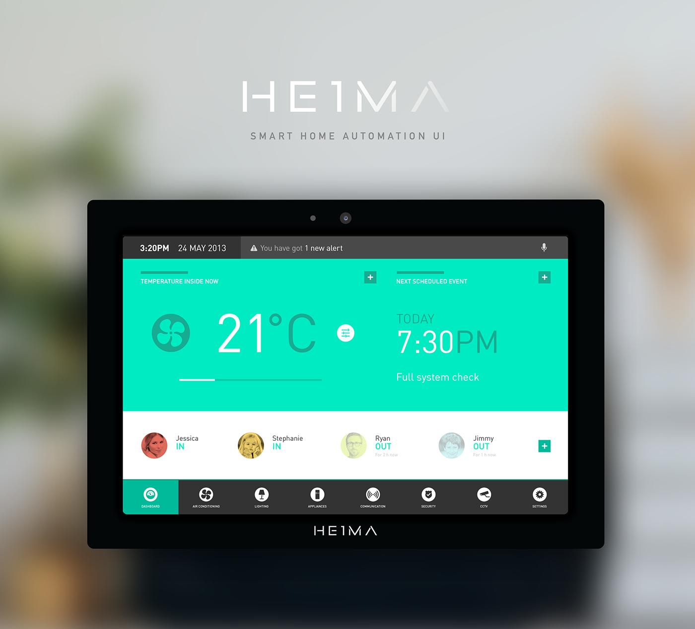 HEIMA   Smart Home Automation UI Concept On Behance