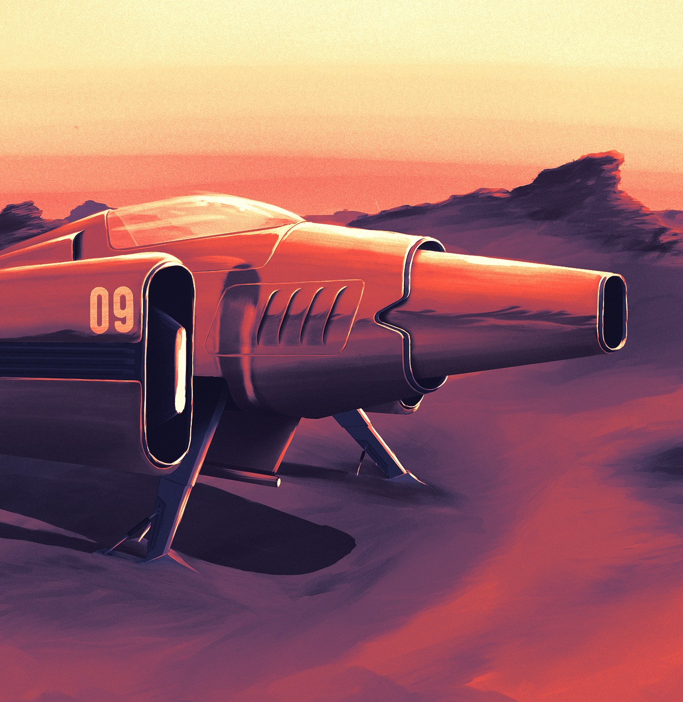Retro futuristic Aircraft ILLUSTRATION  Digital Art  desert future Racing wallpaper wacom