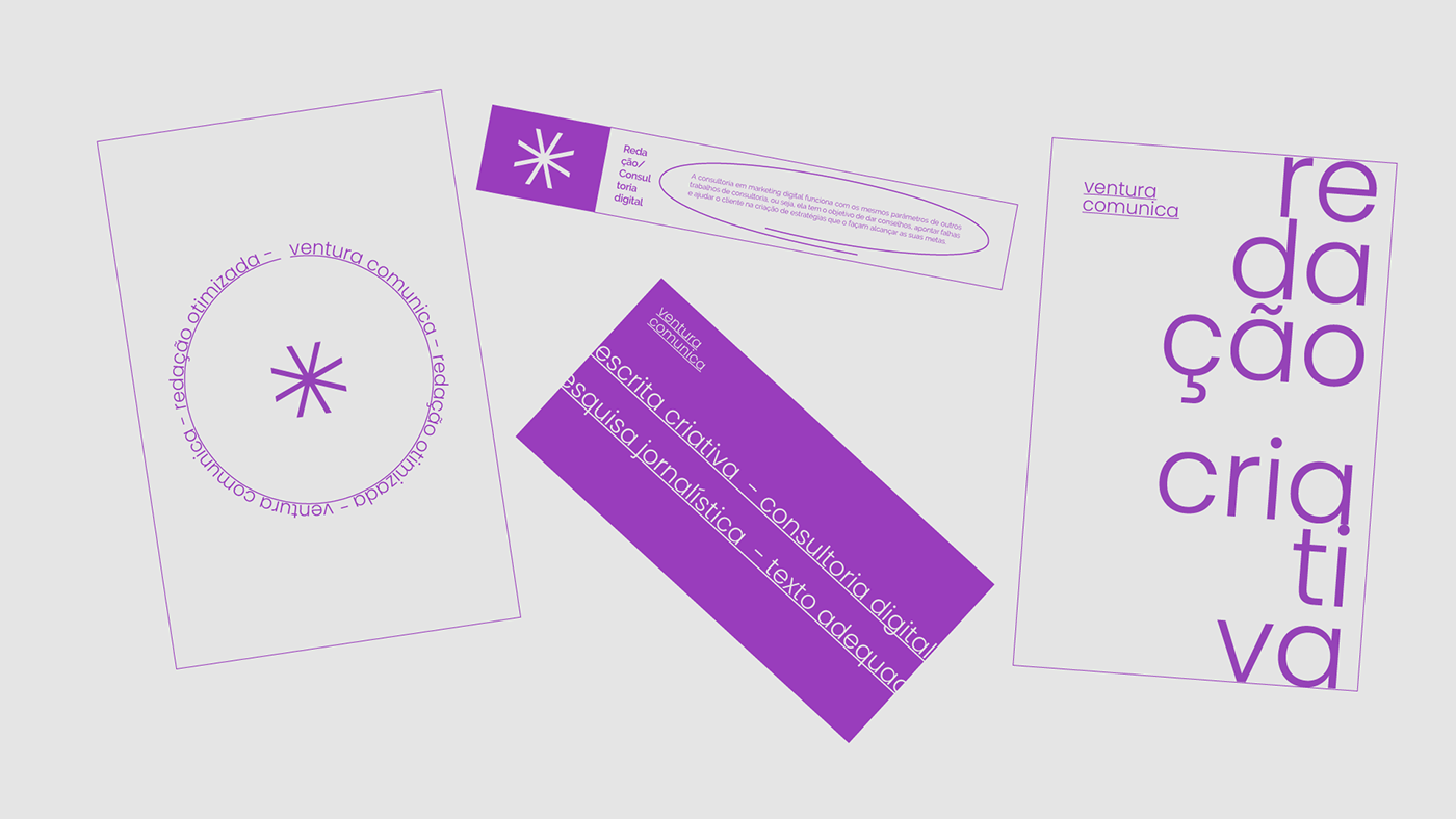 brand comunicação identidade visual palavra poesia poesia concreta tipografia ventura venturacomunica visual identity