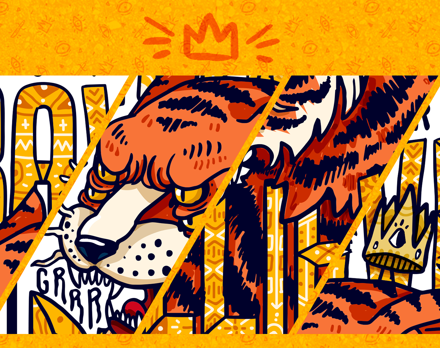 poster ilustration verctorart tiger bear owl