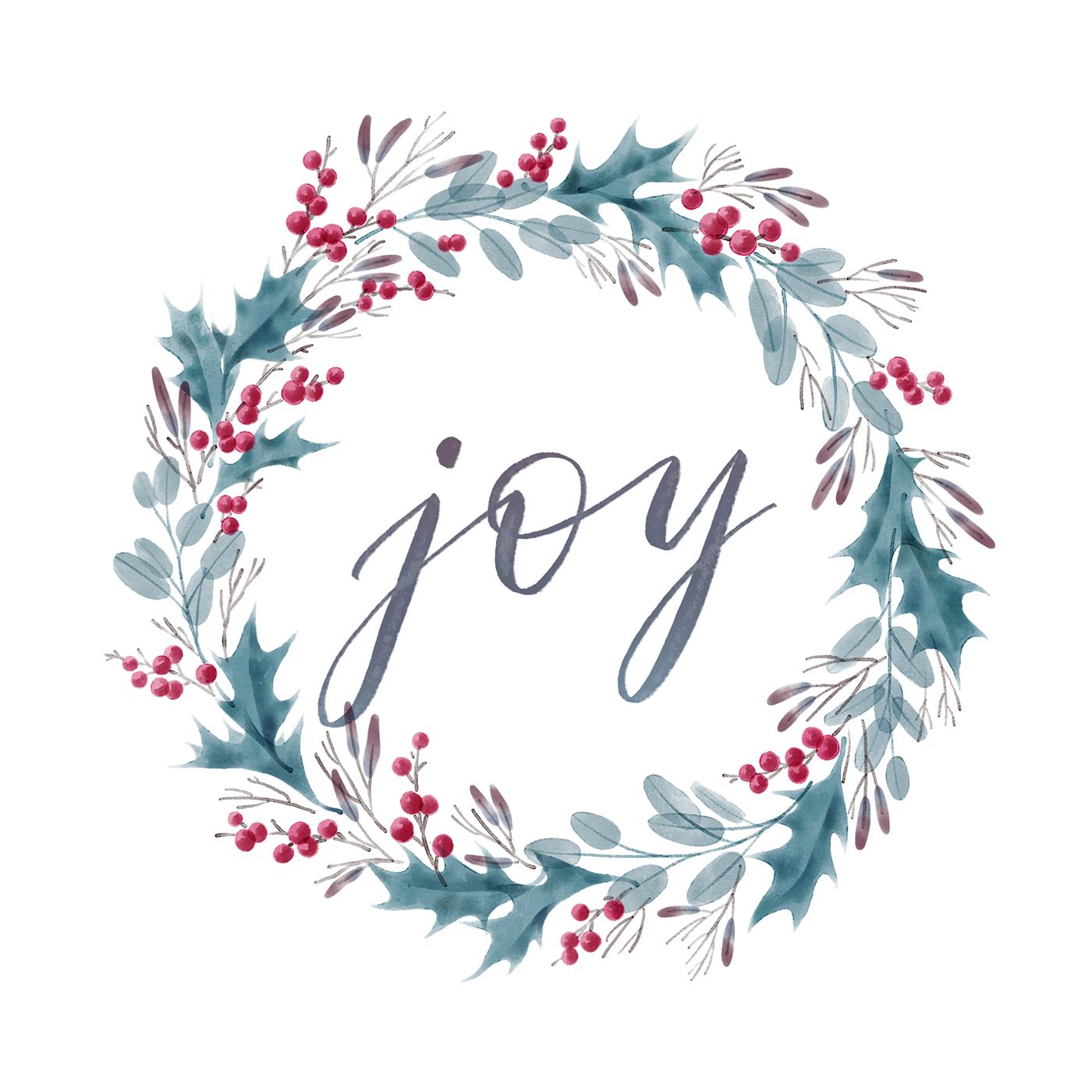 Joy — Christmas Wreath on Behance