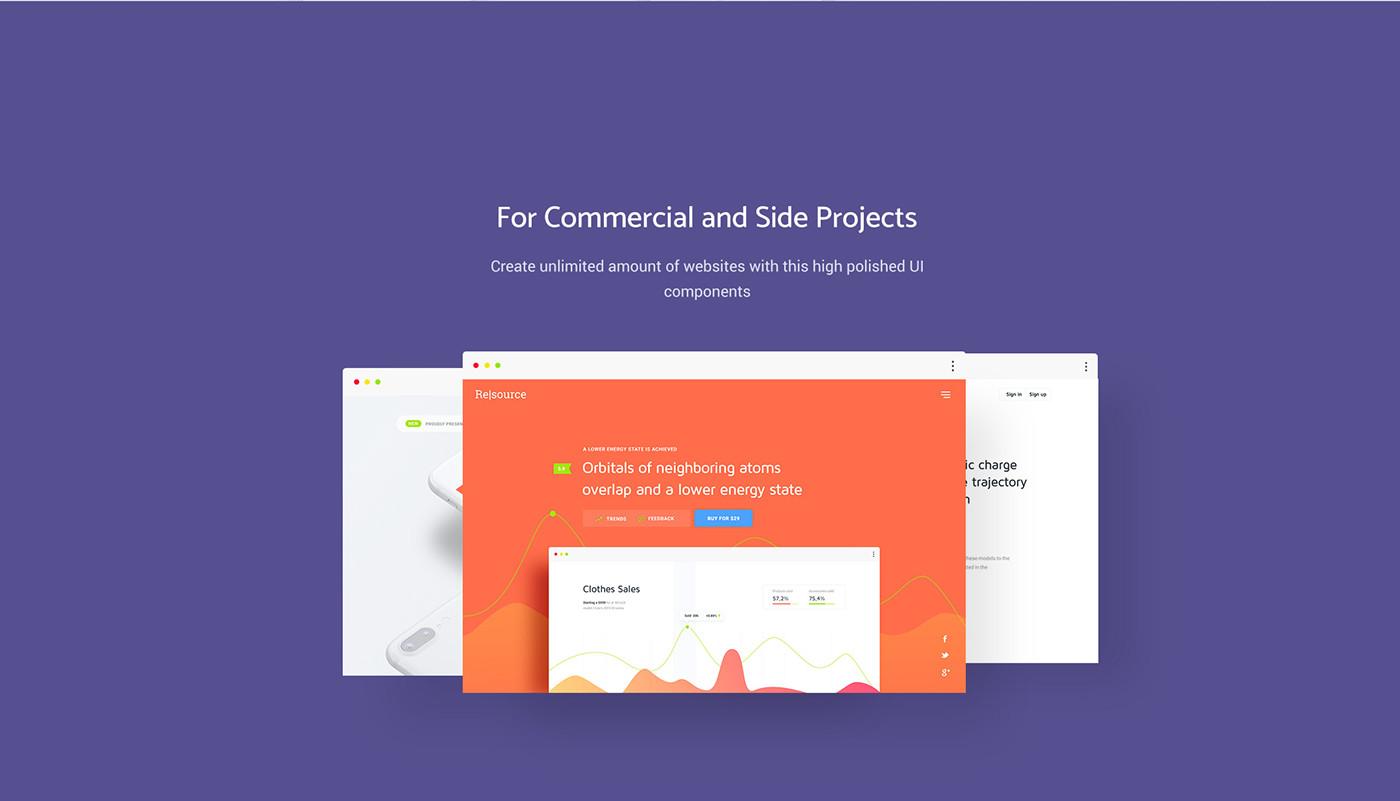 ui kit ux free premium design Interface Web services itteration freebie
