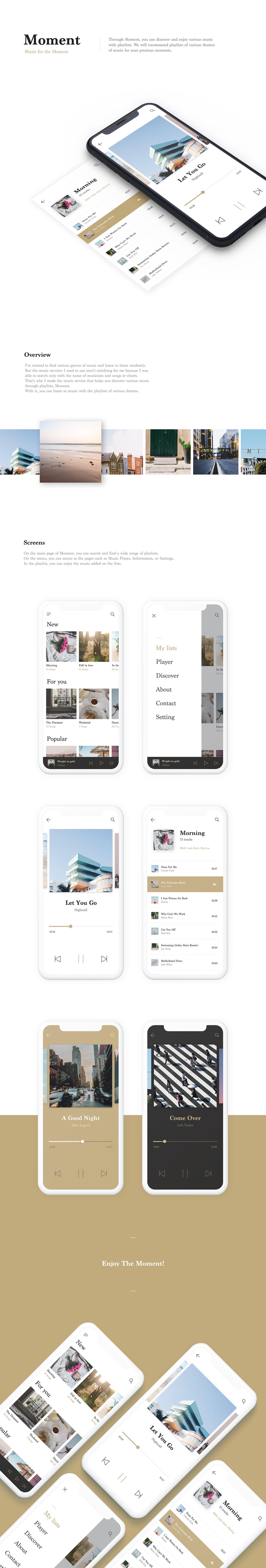 UI app music ux mobile design player ios Interface