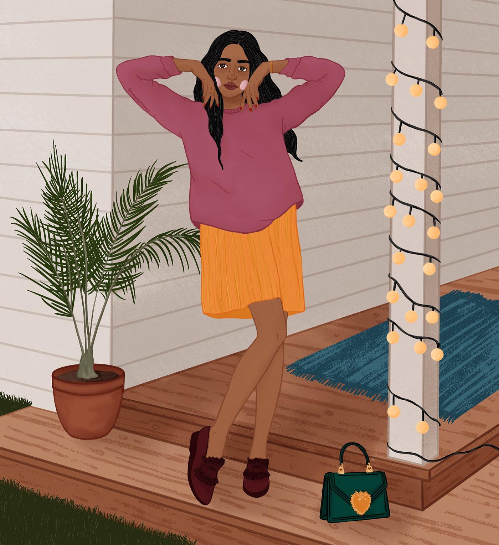 #browngirls #daily #digital   #drawing #everydayart #femaleillustrator #illustration #procreateart #womeninart #womenofillustration