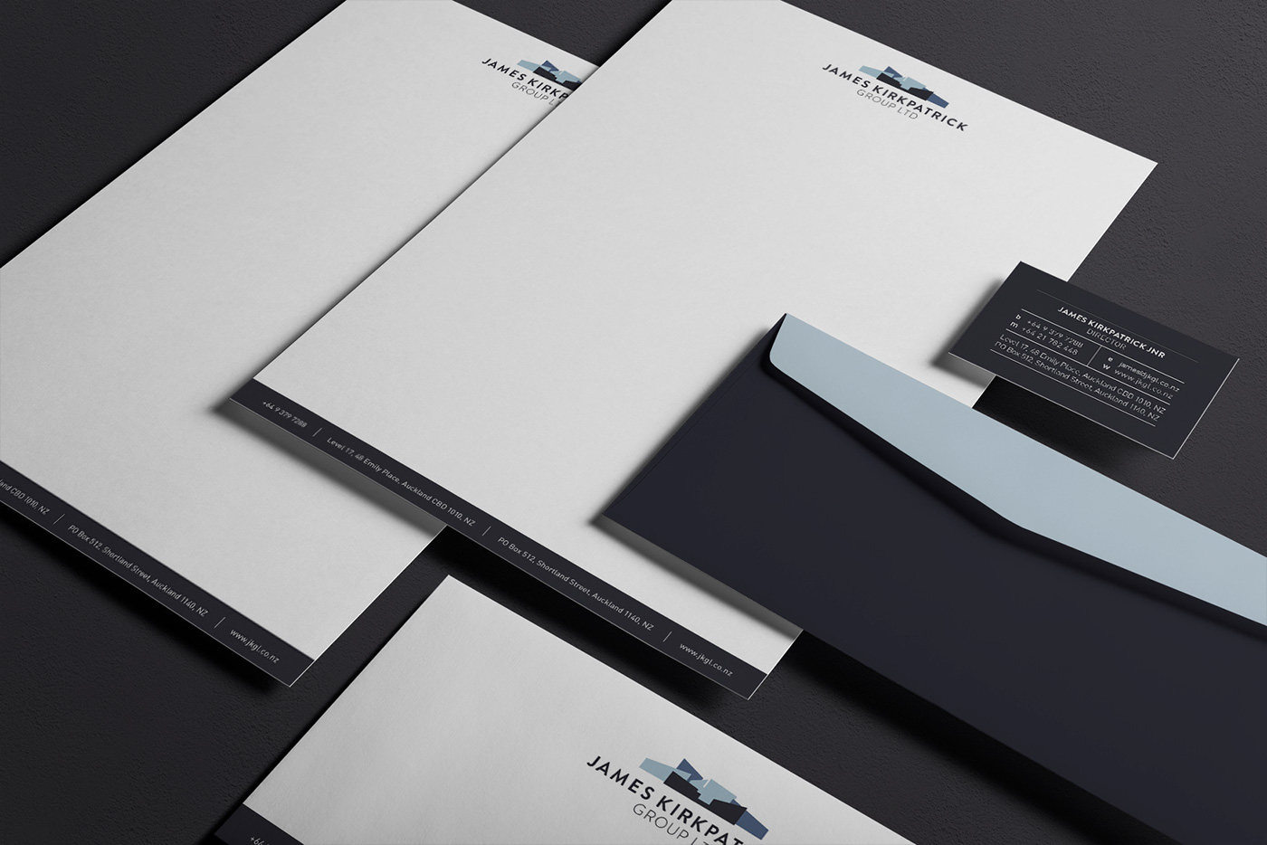 James kirkpatrick group on behance business cards and office stationary rebrand reheart Choice Image