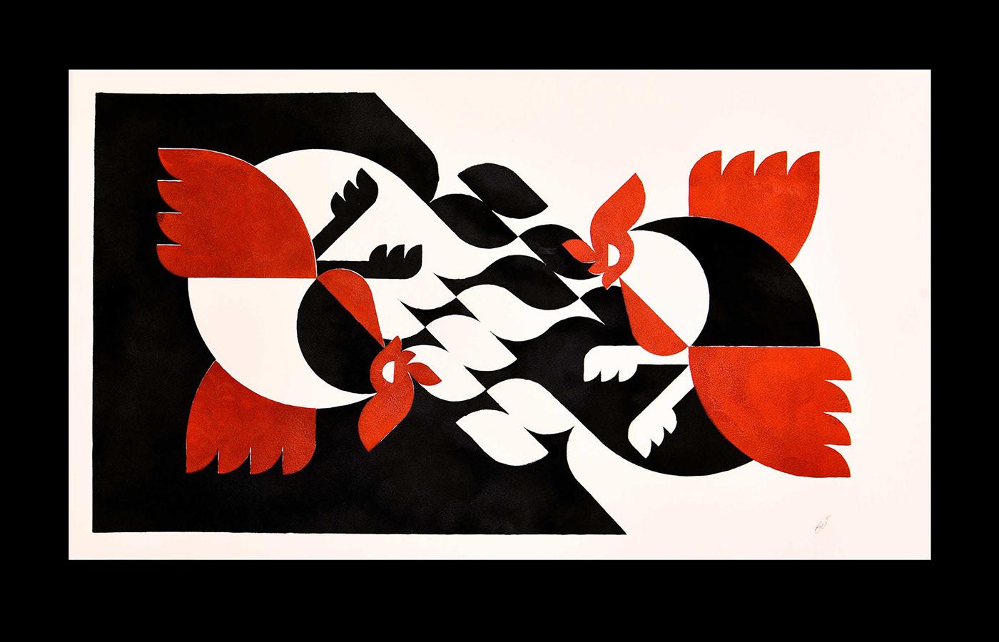 ILLUSTRATION ,stencil,japan,japanese,animal art,contemporary,Modernart,modernism,stencil art,Illustrator