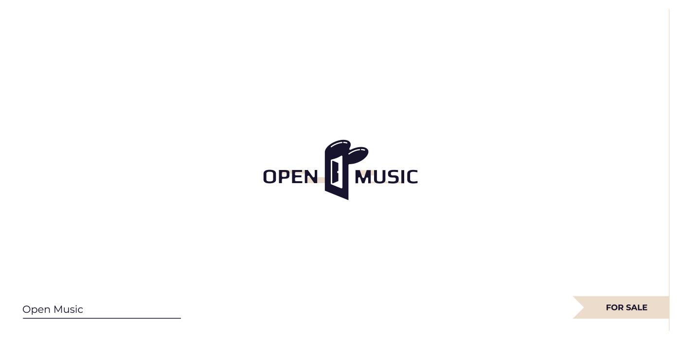 Negative space Note + Door logo.