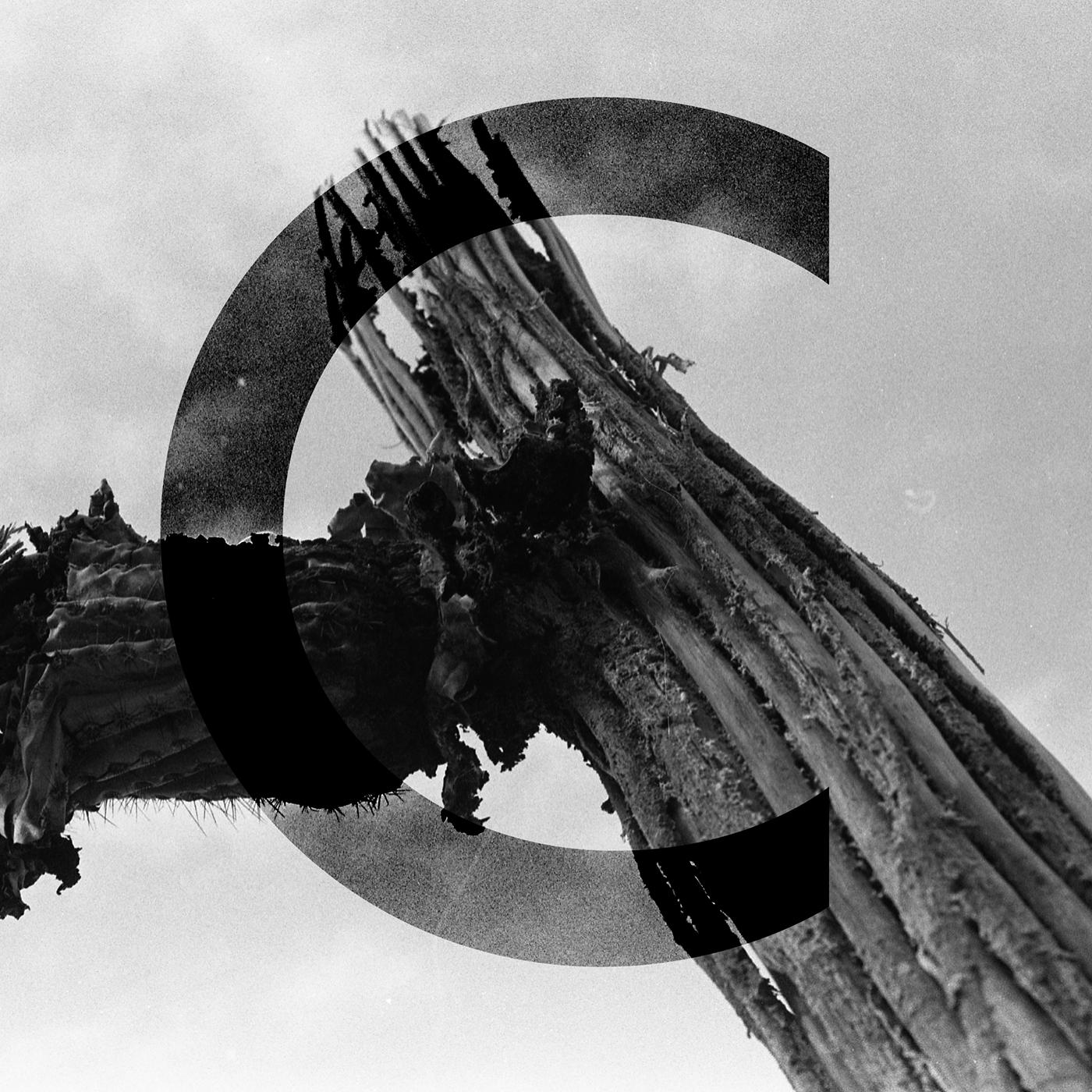 Capital C Photographic Illuminated Illustrated. Film photograph with digital manipulation.