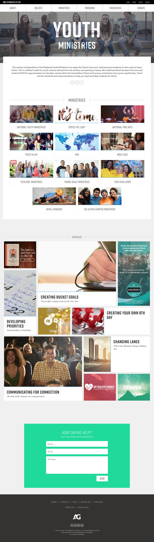 assemblies of god Responsive Design non-profit