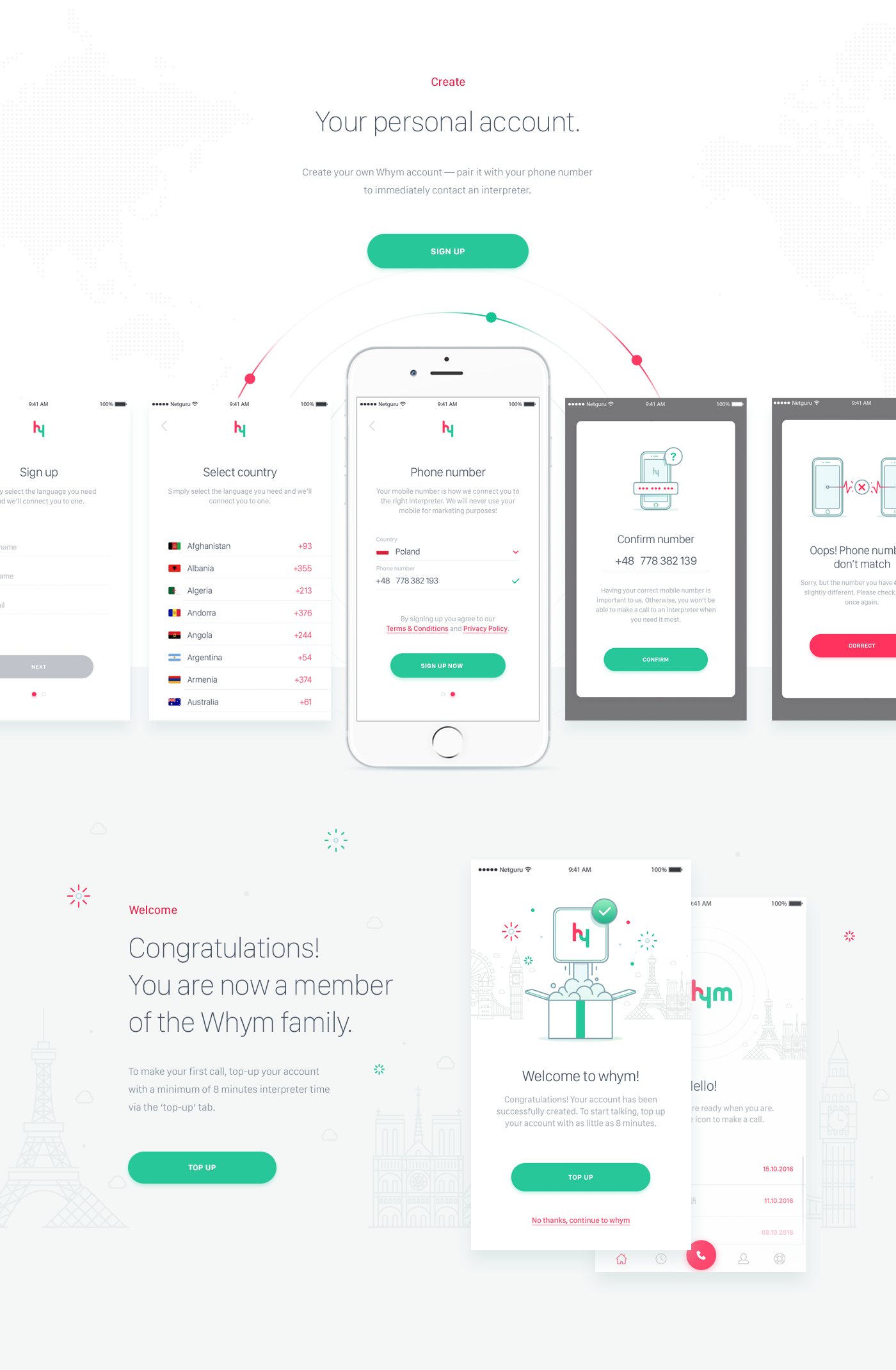 Product Design: Whym - Seamless Instant Interpretation App