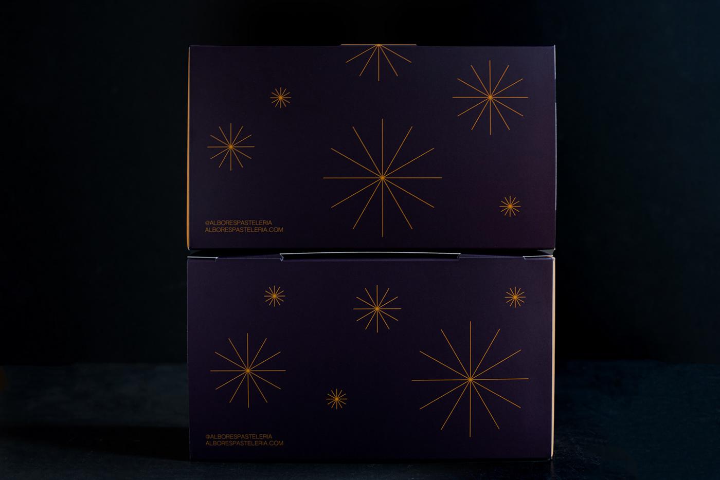 Albores branding  cake chocolate packaging design pasteleria