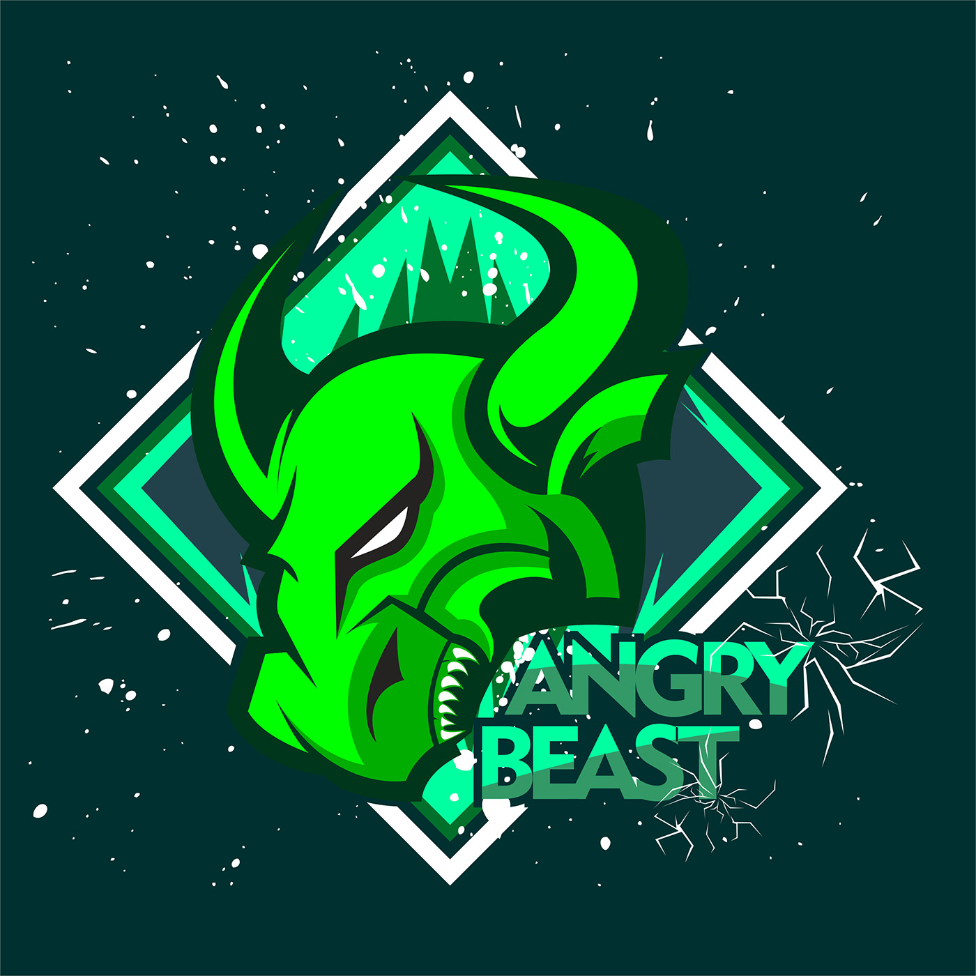 Angry bull or angry buffalo to descriptive the team club and esport team and the other team