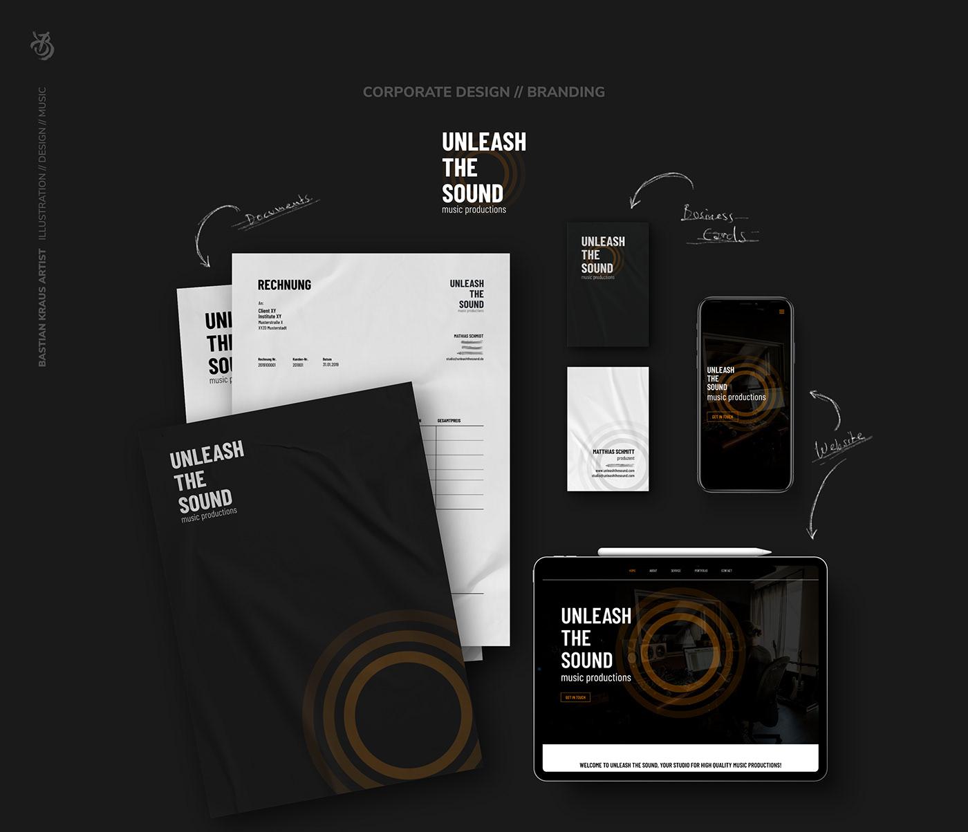 Unleash The Sound // Corporate Design + Branding