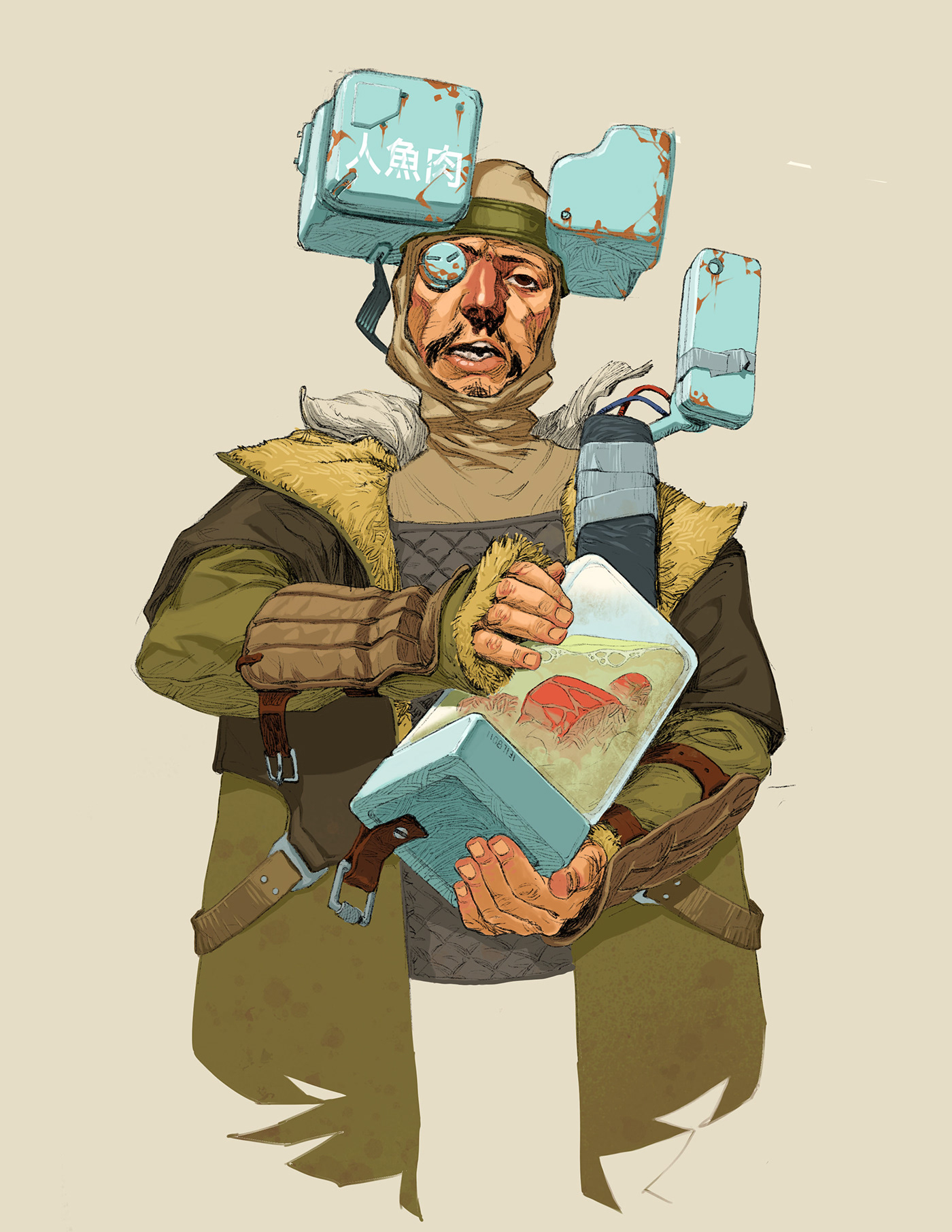 casual cyberpunk Character design  concept art Cyberpunk grositskiy mundane cyberpunk