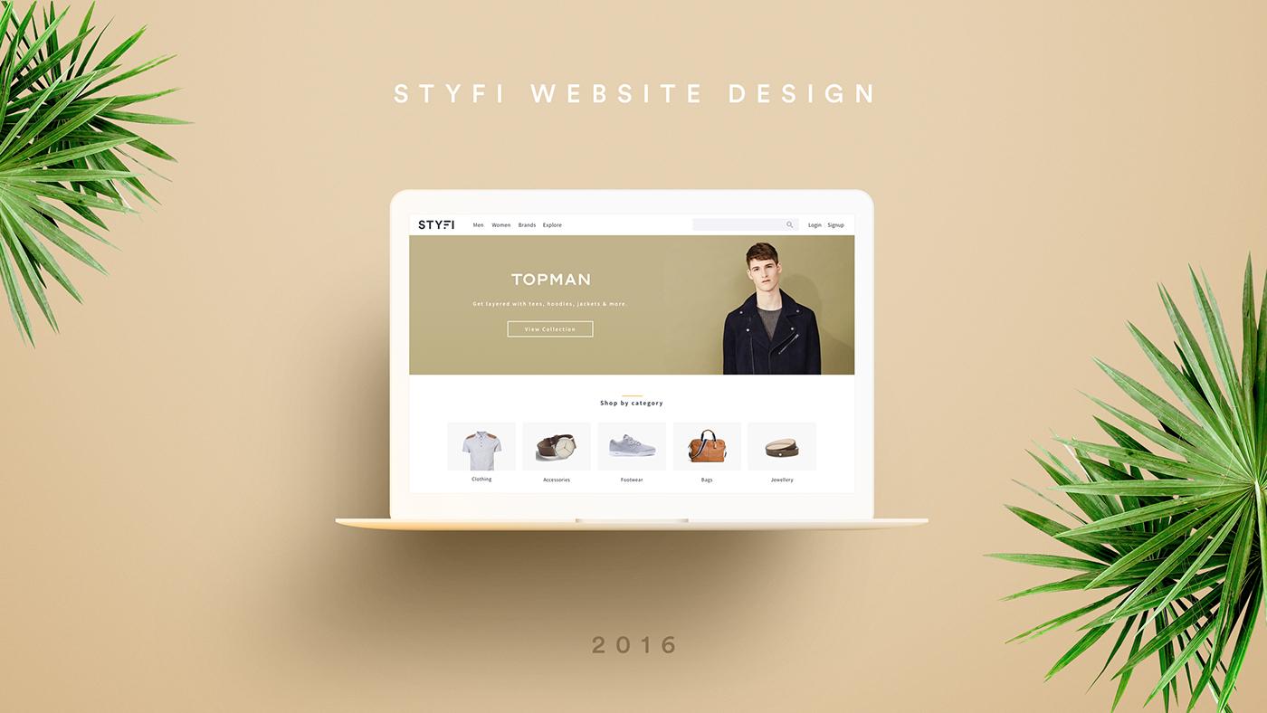 Website Design user interface graphic design  ux Web Design  Fashion  e-commerce