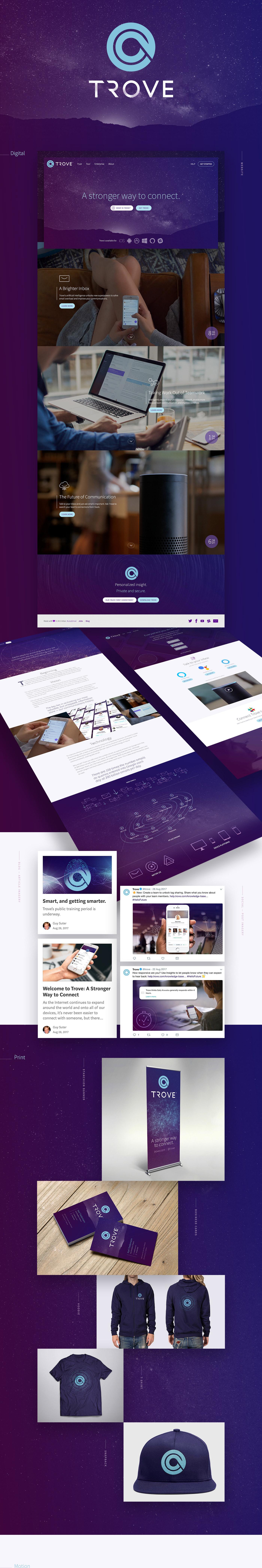 trove marketing   Email networking app purple stars