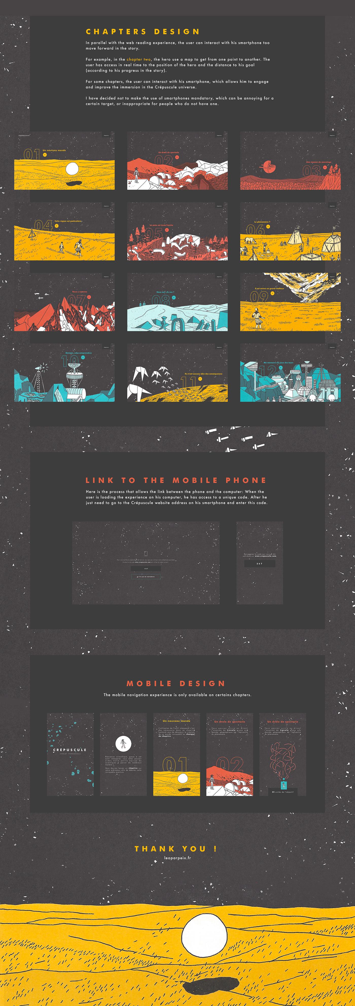 Crépuscule éditions 2024 Jérémy Perrodeau Webdesign colorful interactive reading Comic Book Interactive Experience ui design Space