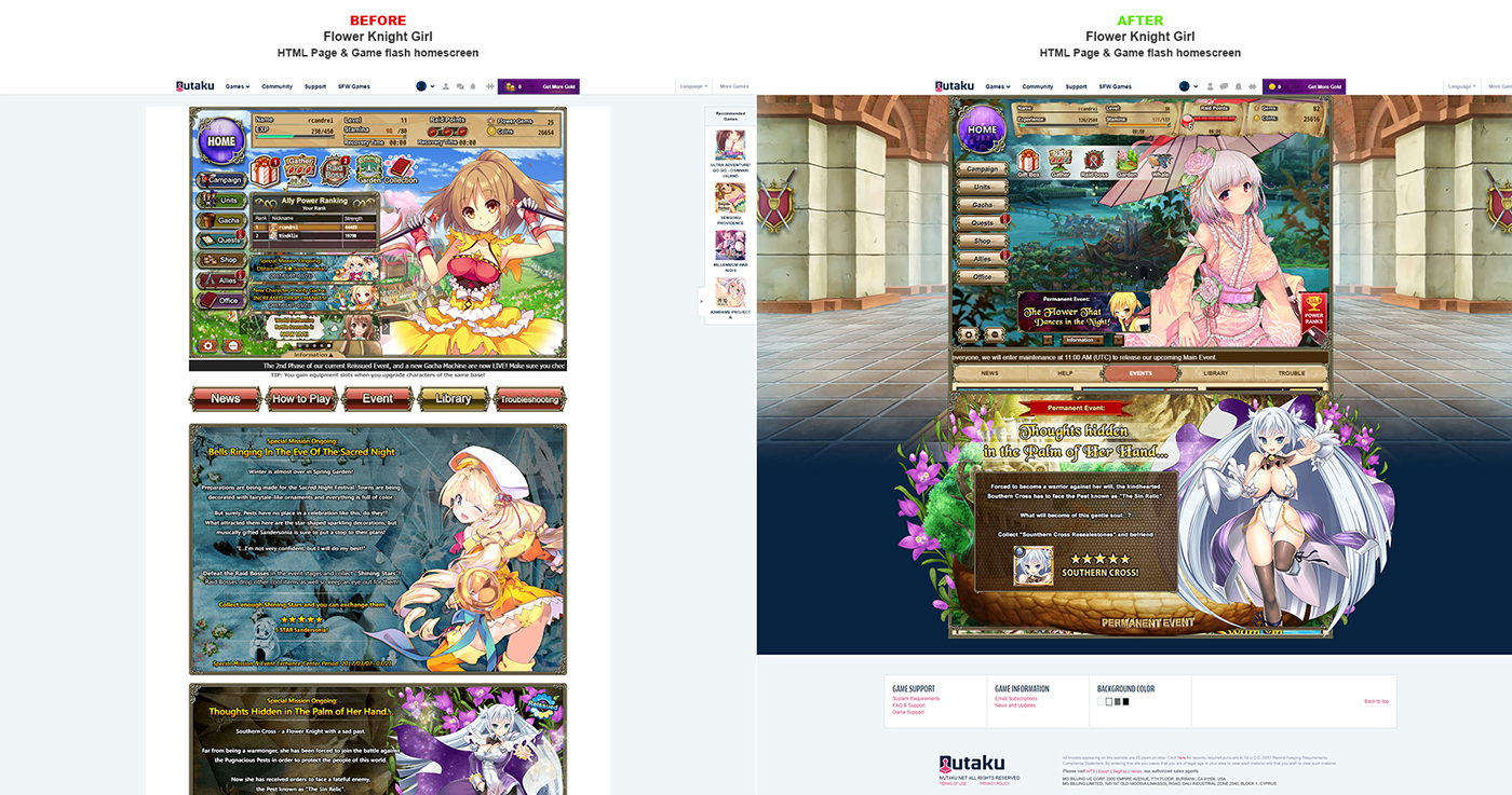 Flower Knight Girl - UI improvements on Behance