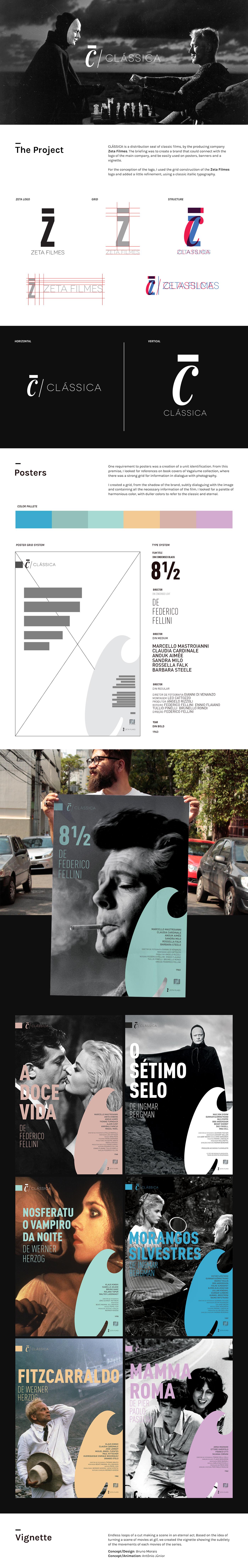 poster Cinema design branding