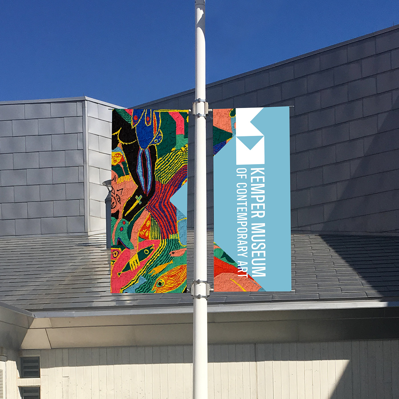 art branding  modern art museum Kemper Art logo Rebrand kemper museum Logo Design KCARTS