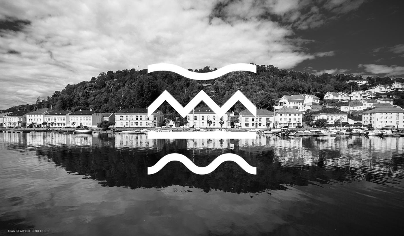risør kammermusikk editorial magazine logo identity cutout poster businesscard