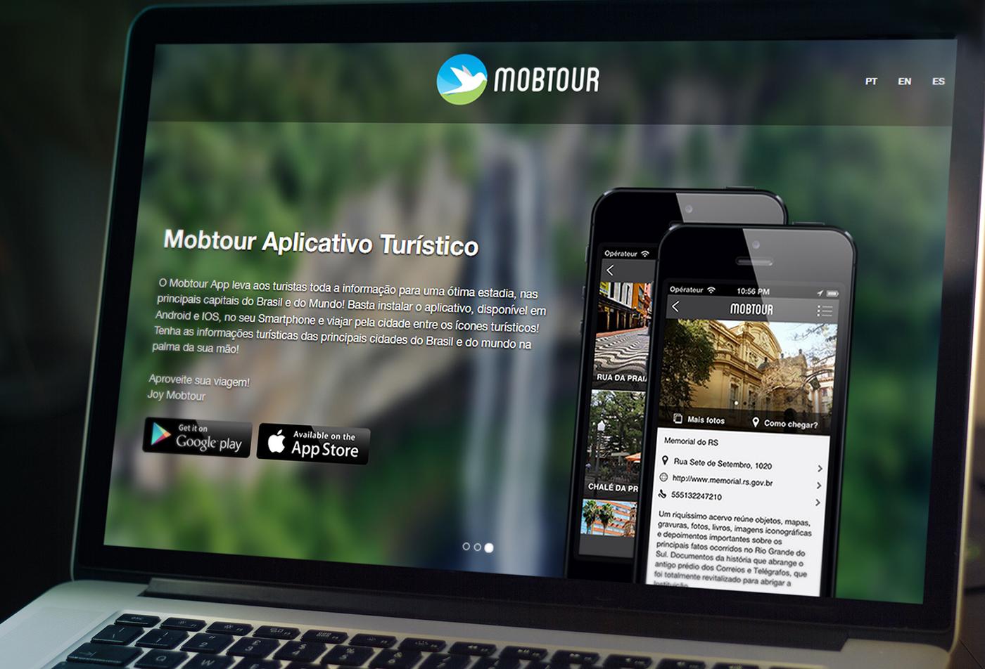 aplicativo Turismo app turism logo brand Interface
