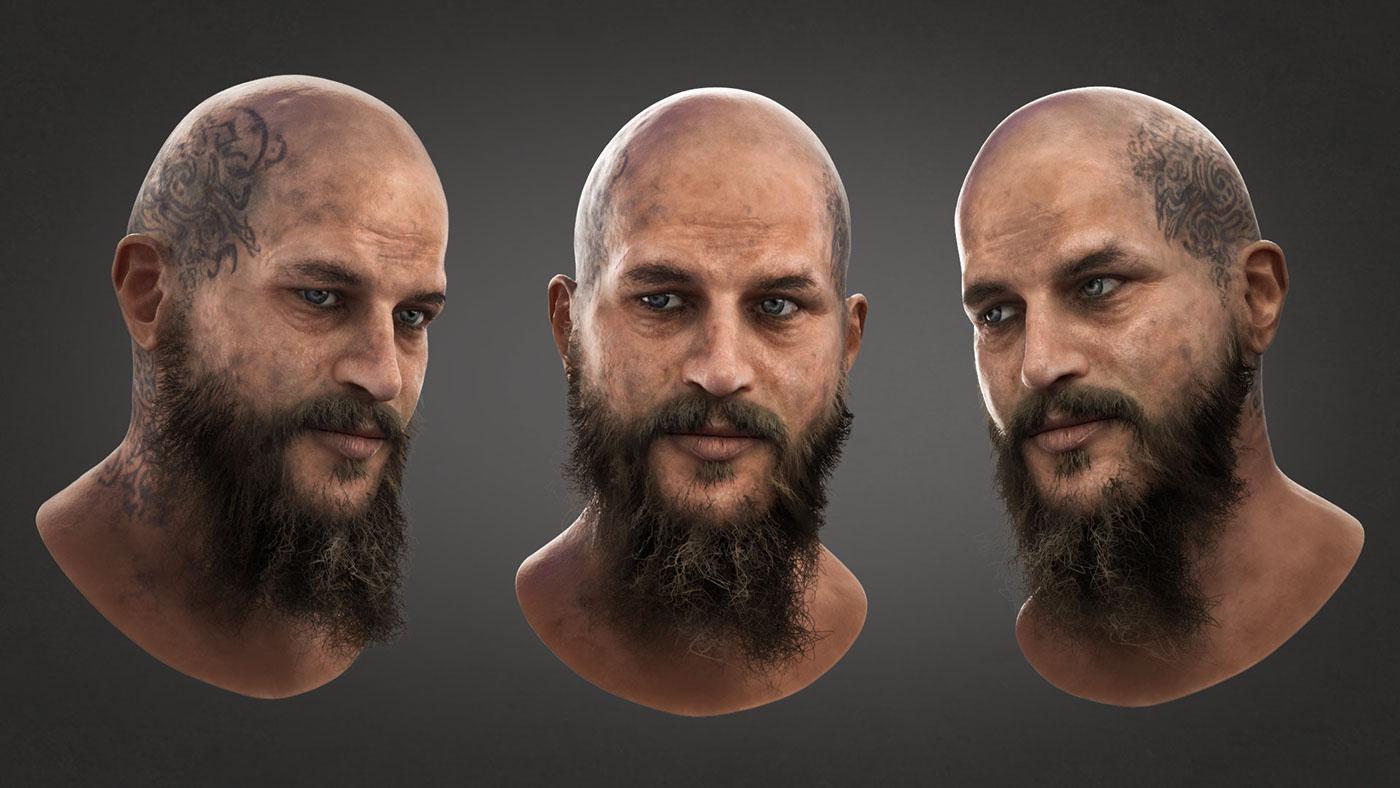 ragnar lodbrok 3d portrait on behance