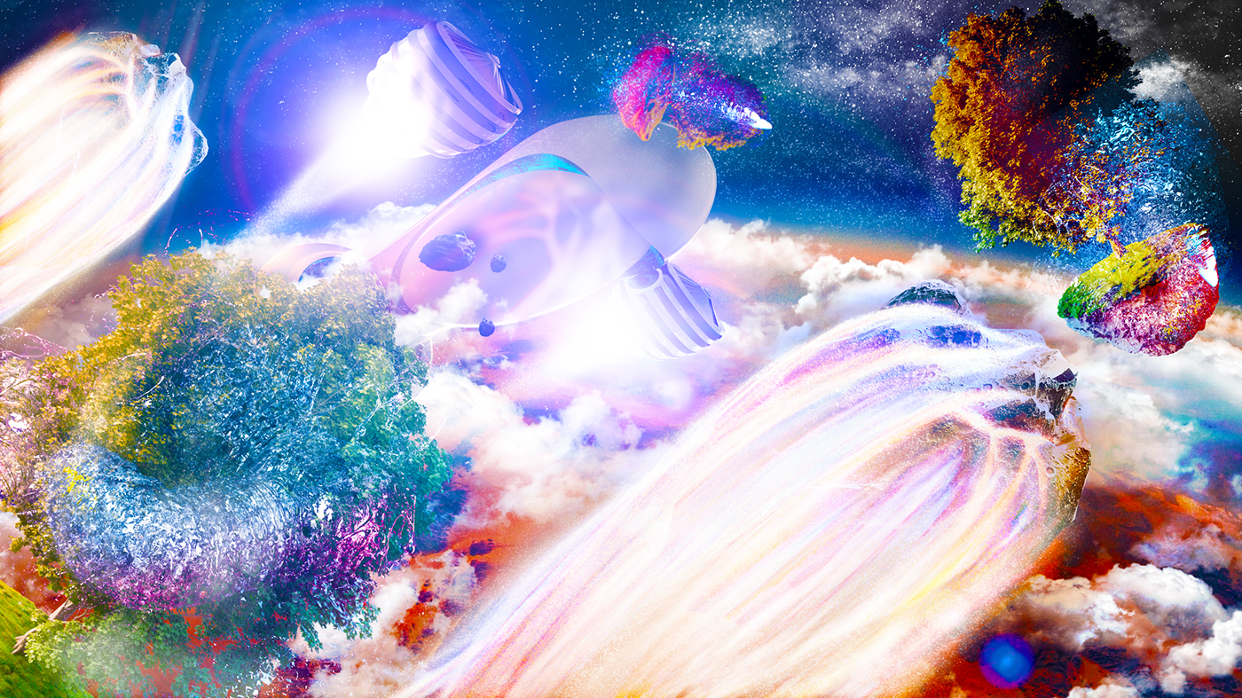 vray cinema4d 3D Render creative Beautiful Colourful  colour psychedelic Space  wacom