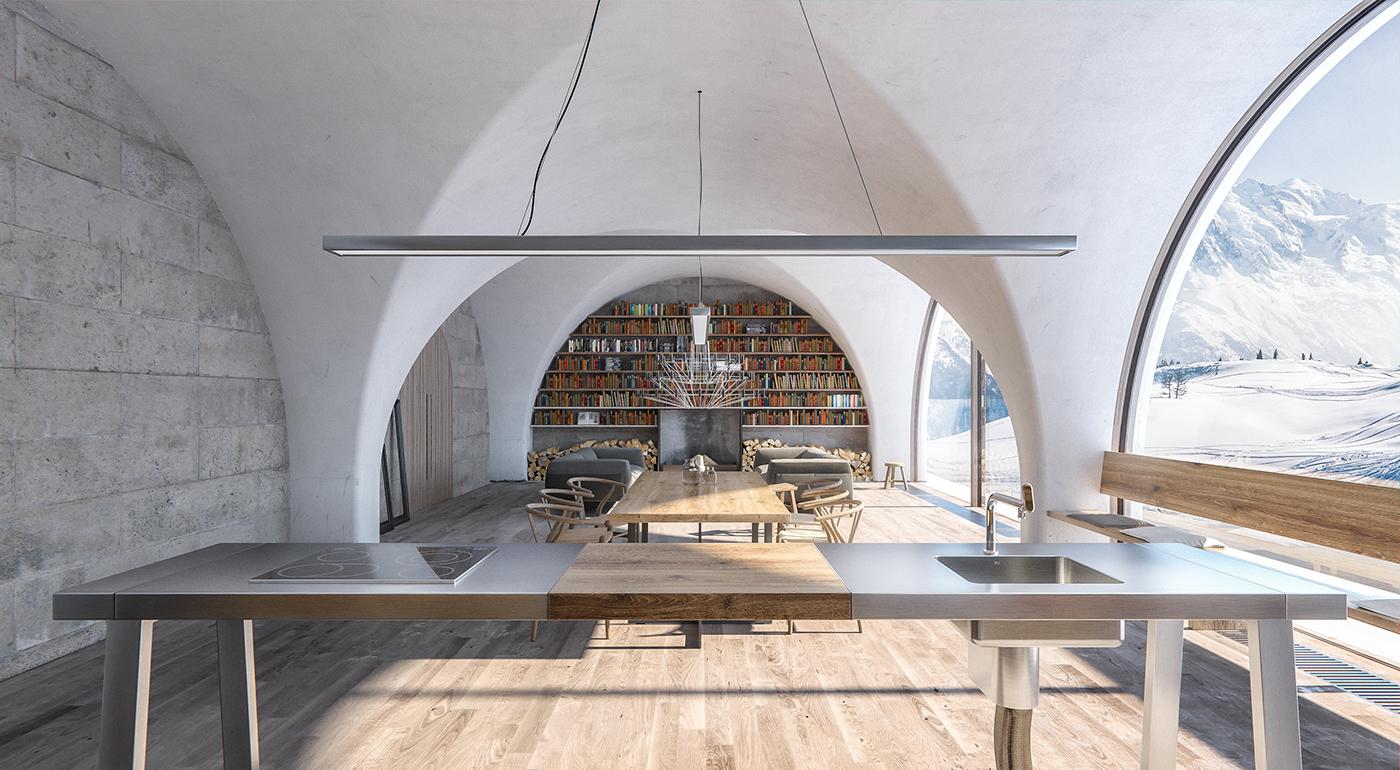 bulthaup b2 private kitchen on behance. Black Bedroom Furniture Sets. Home Design Ideas