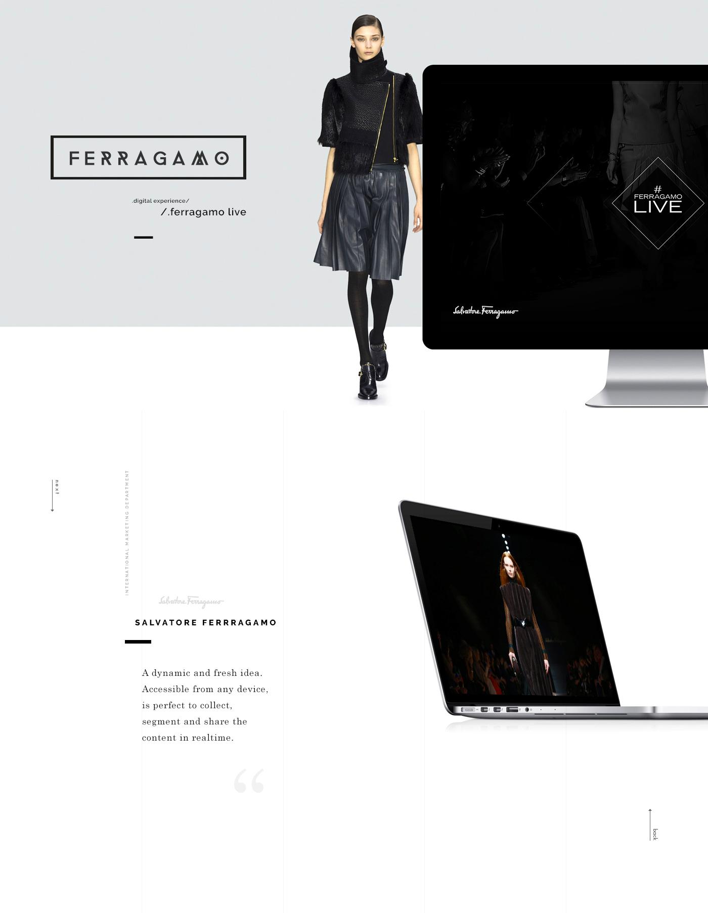 ux xD Experience design userjourney user journey Ferragamo salvatore mobile Responsive live