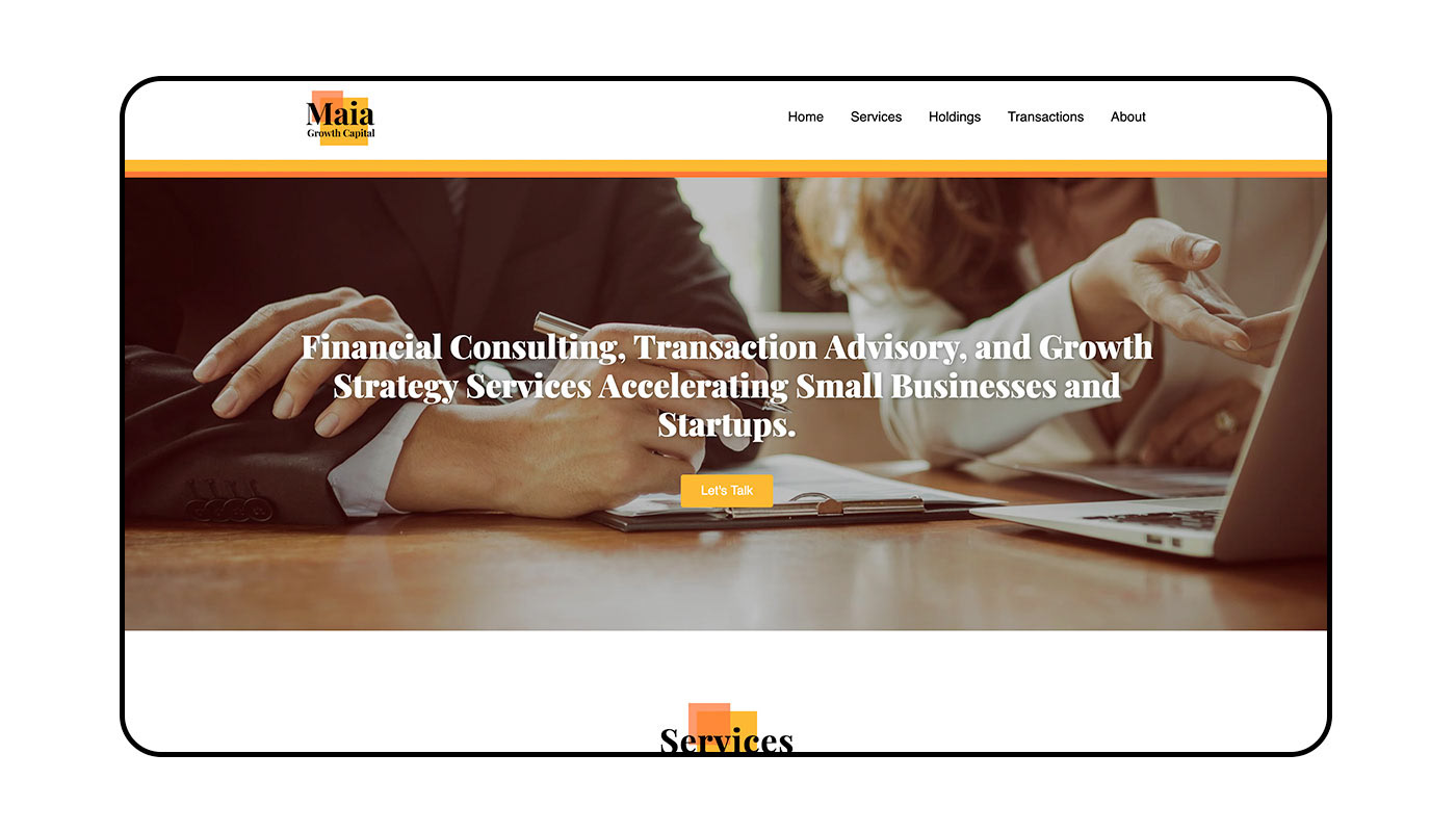 animation  business consultant financial logo Website